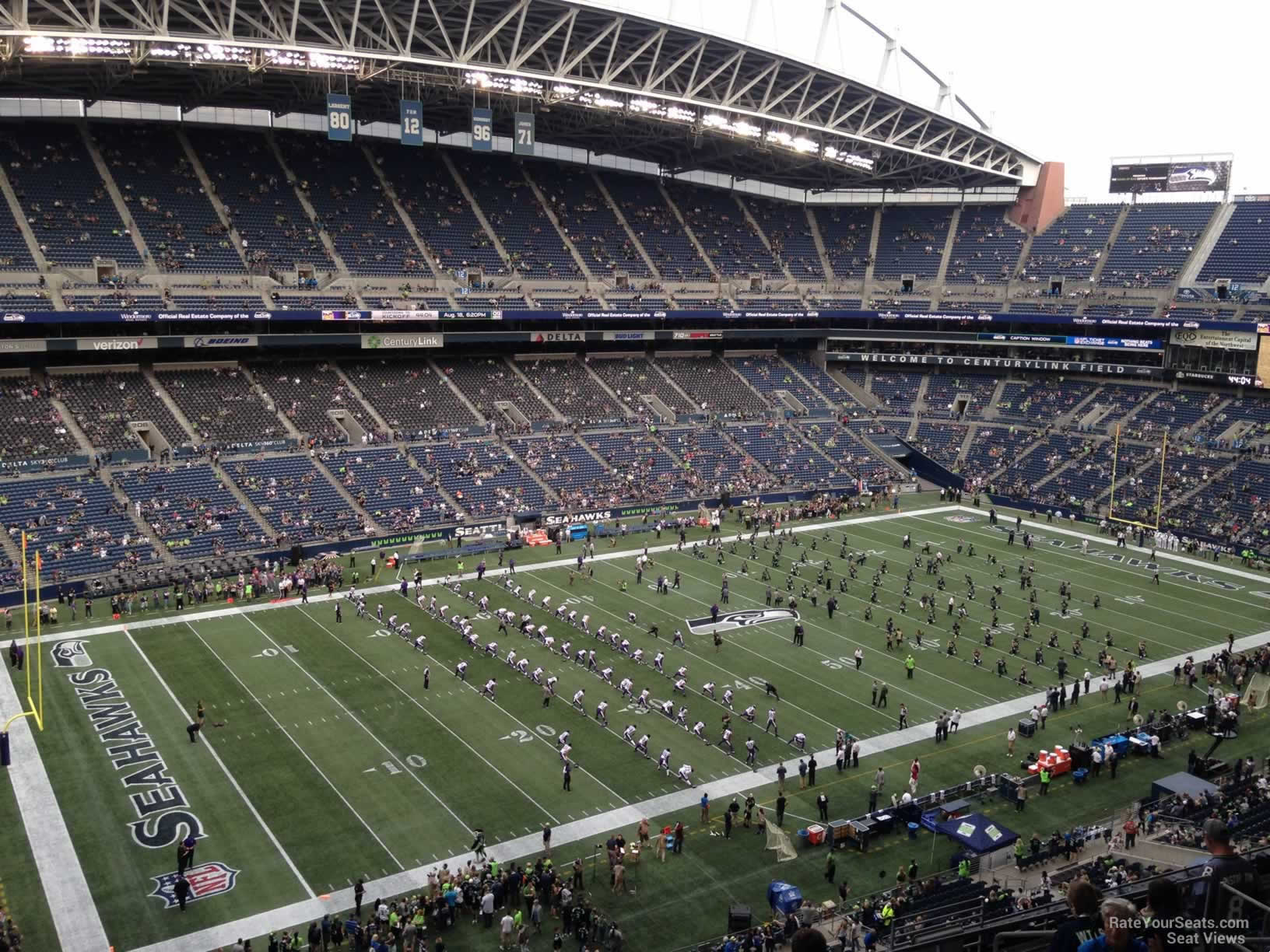 Seattle Seahawks Seat View for CenturyLink Field Section 340, Row G