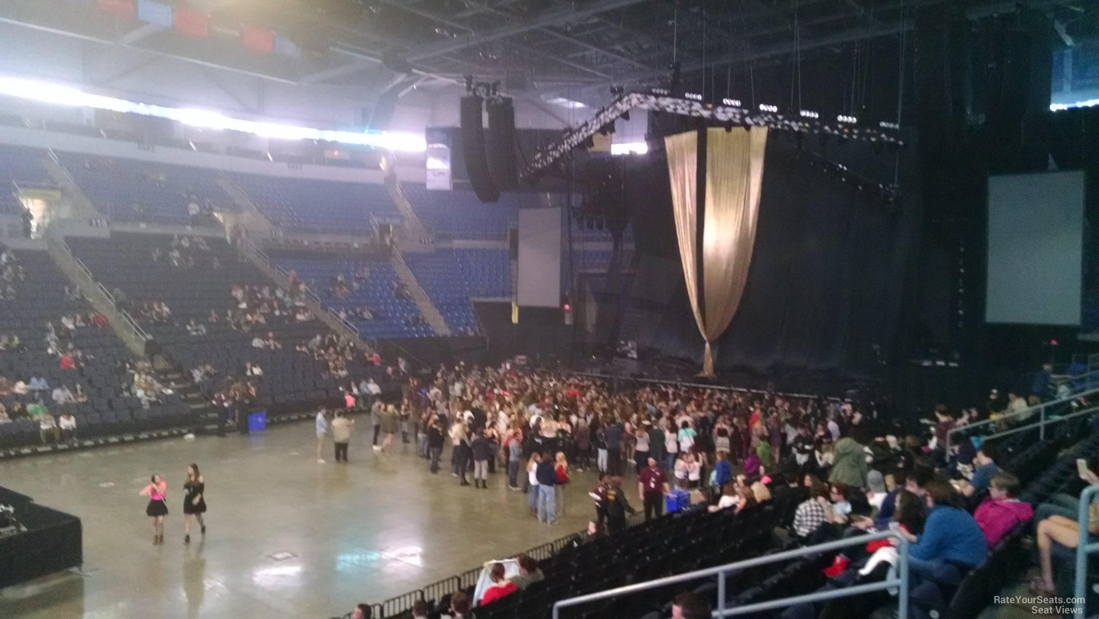 Concert Seat View for Chaifetz Arena Section 105, Row N