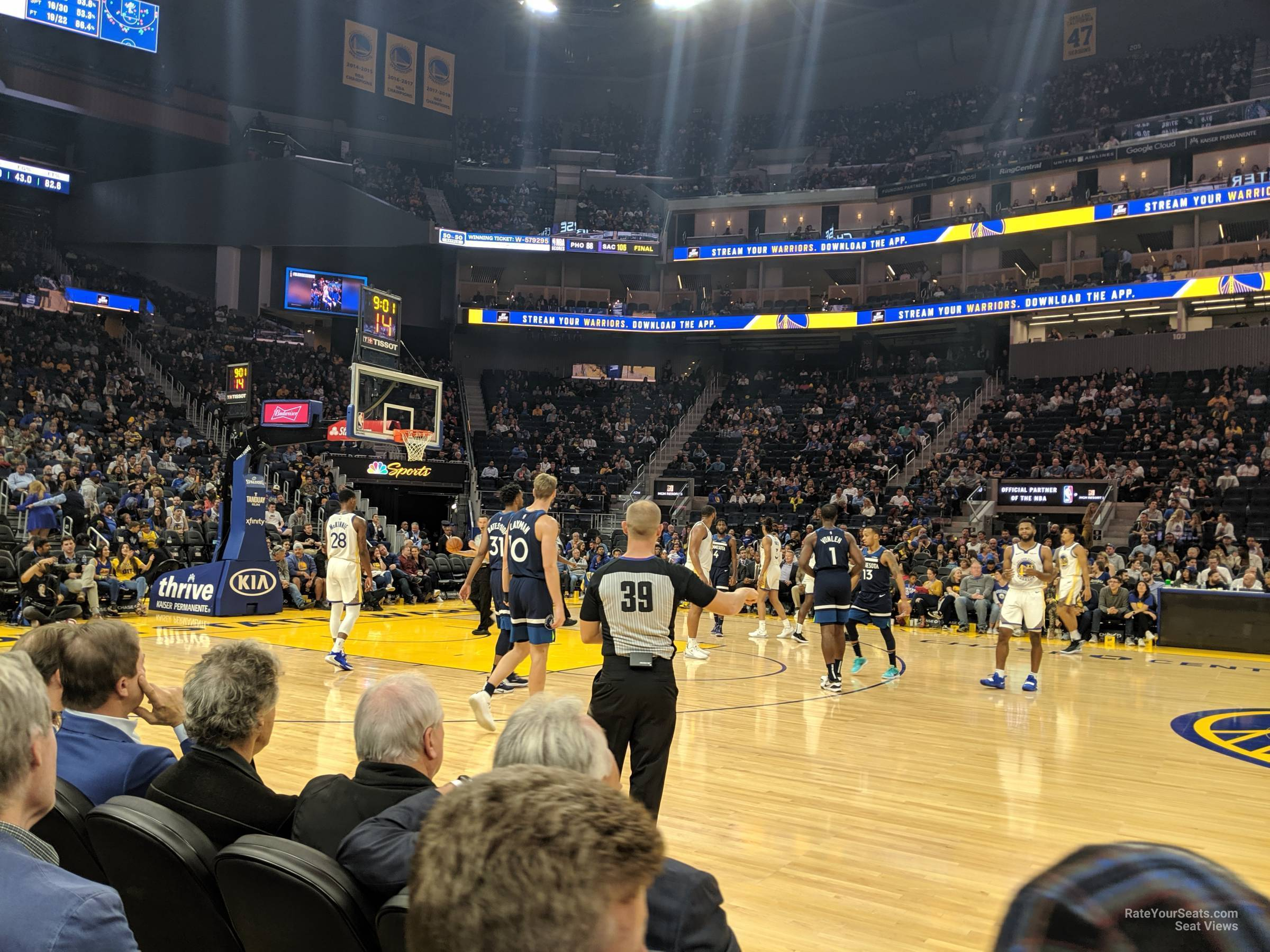 VIP Courtside seat view