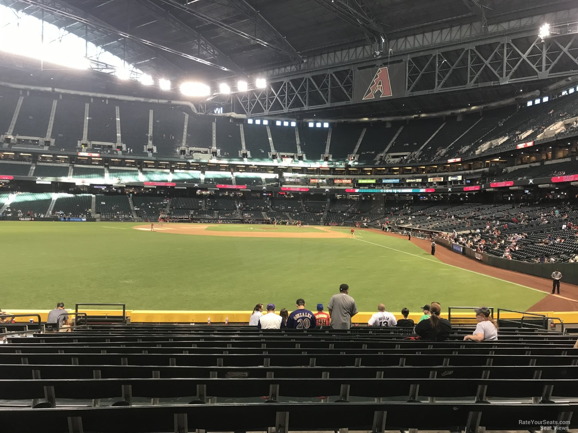 Arizona Diamondbacks Seat View for Chase Field Section 140, Row 20