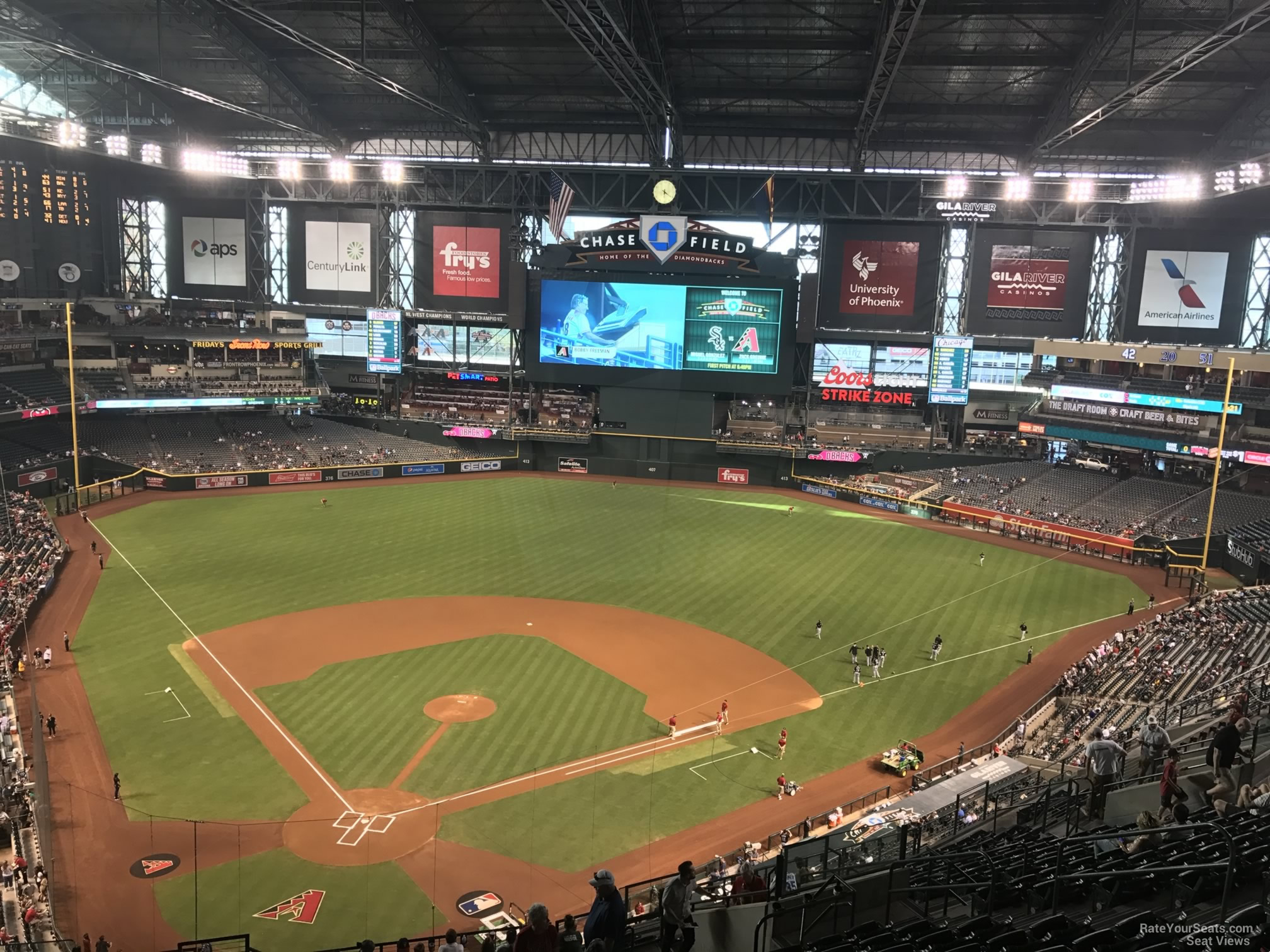 Arizona Diamondbacks Seat View for Chase Field Section 314, Row 20