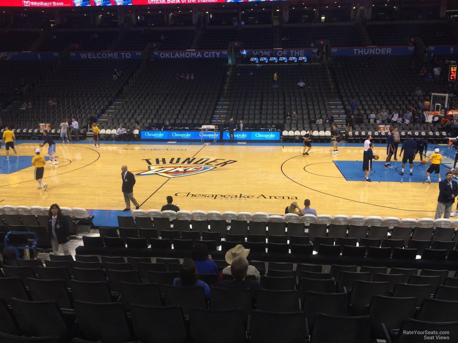 Chesapeake Energy Arena Section 105 Oklahoma City