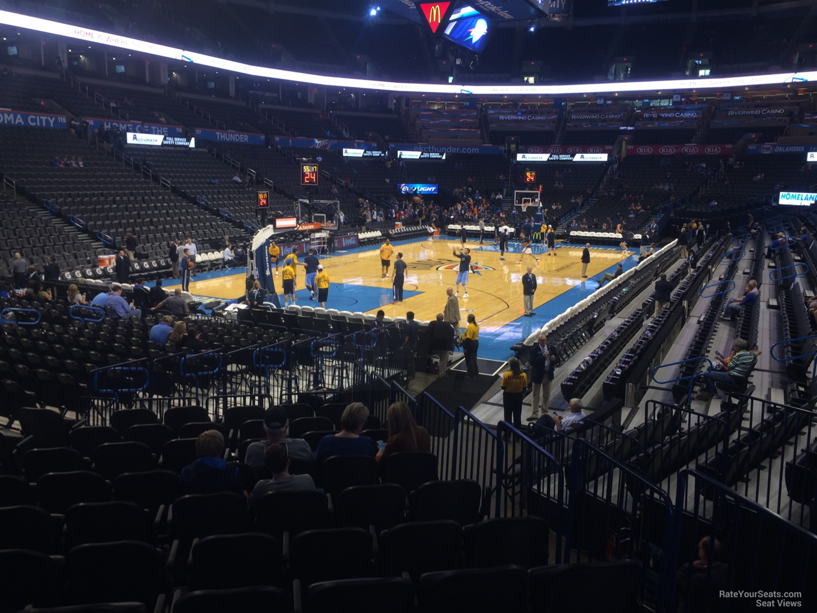 Seat View For Chesapeake Energy Arena Section 109