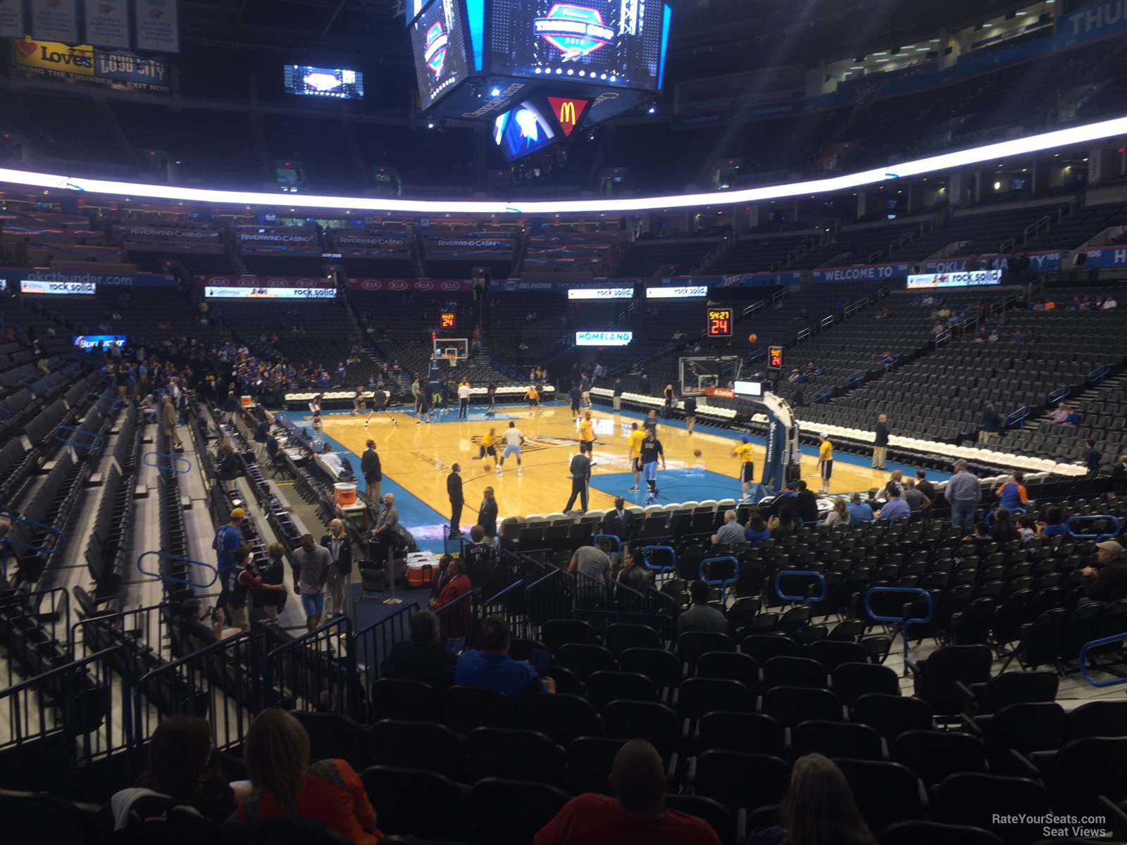Seat View For Chesapeake Energy Arena Section 112