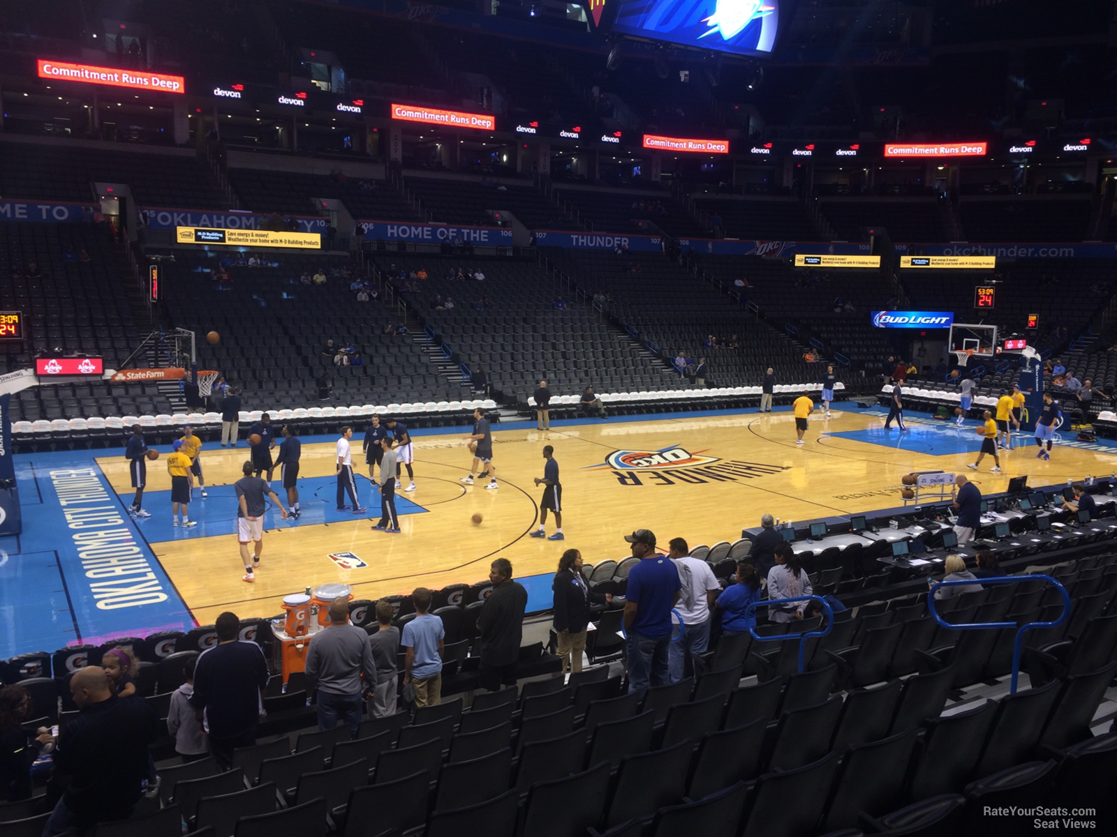 Chesapeake Energy Arena Section 117 Oklahoma City