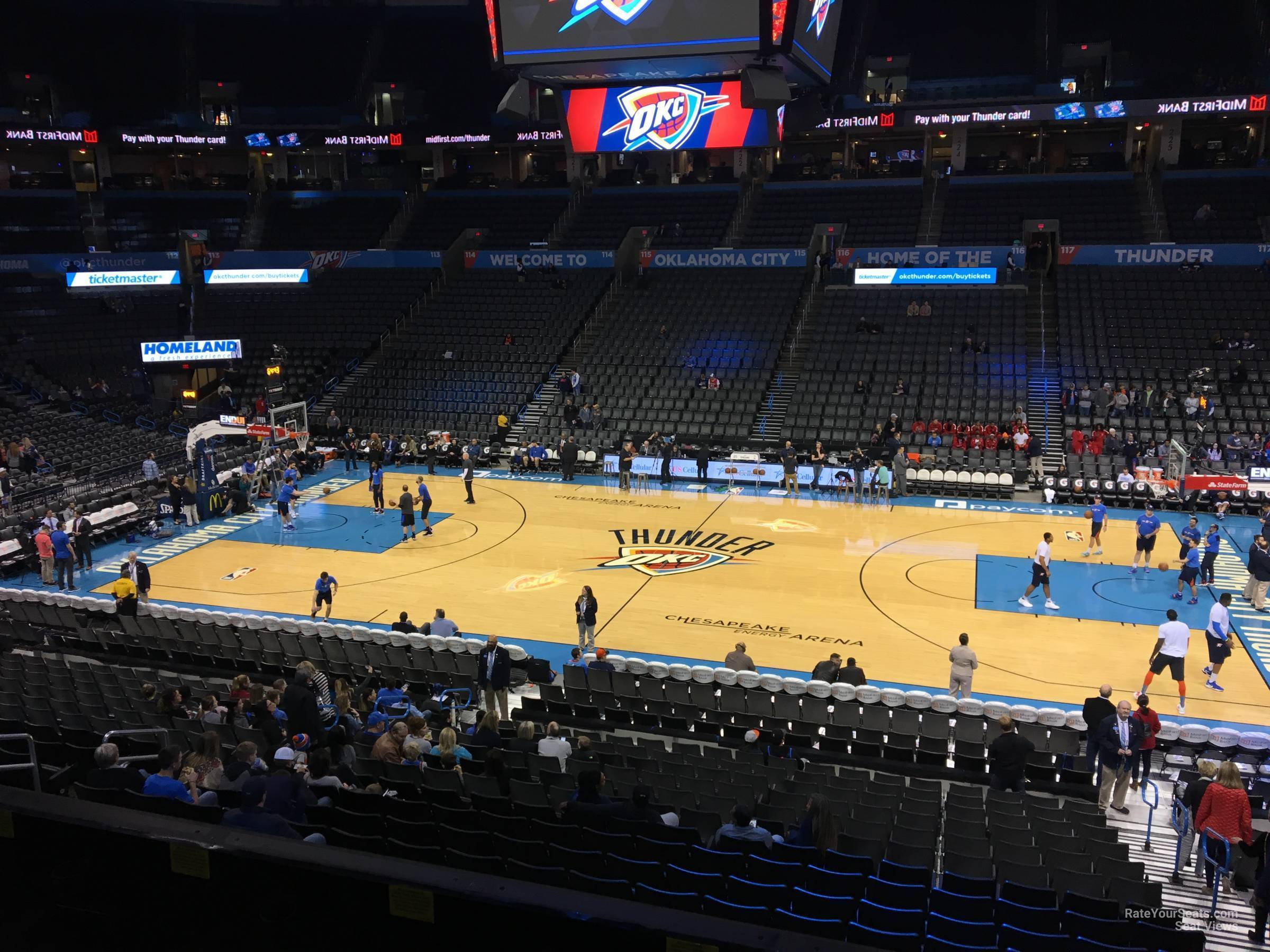 Chesapeake Energy Arena Section 207 Oklahoma City Thunder