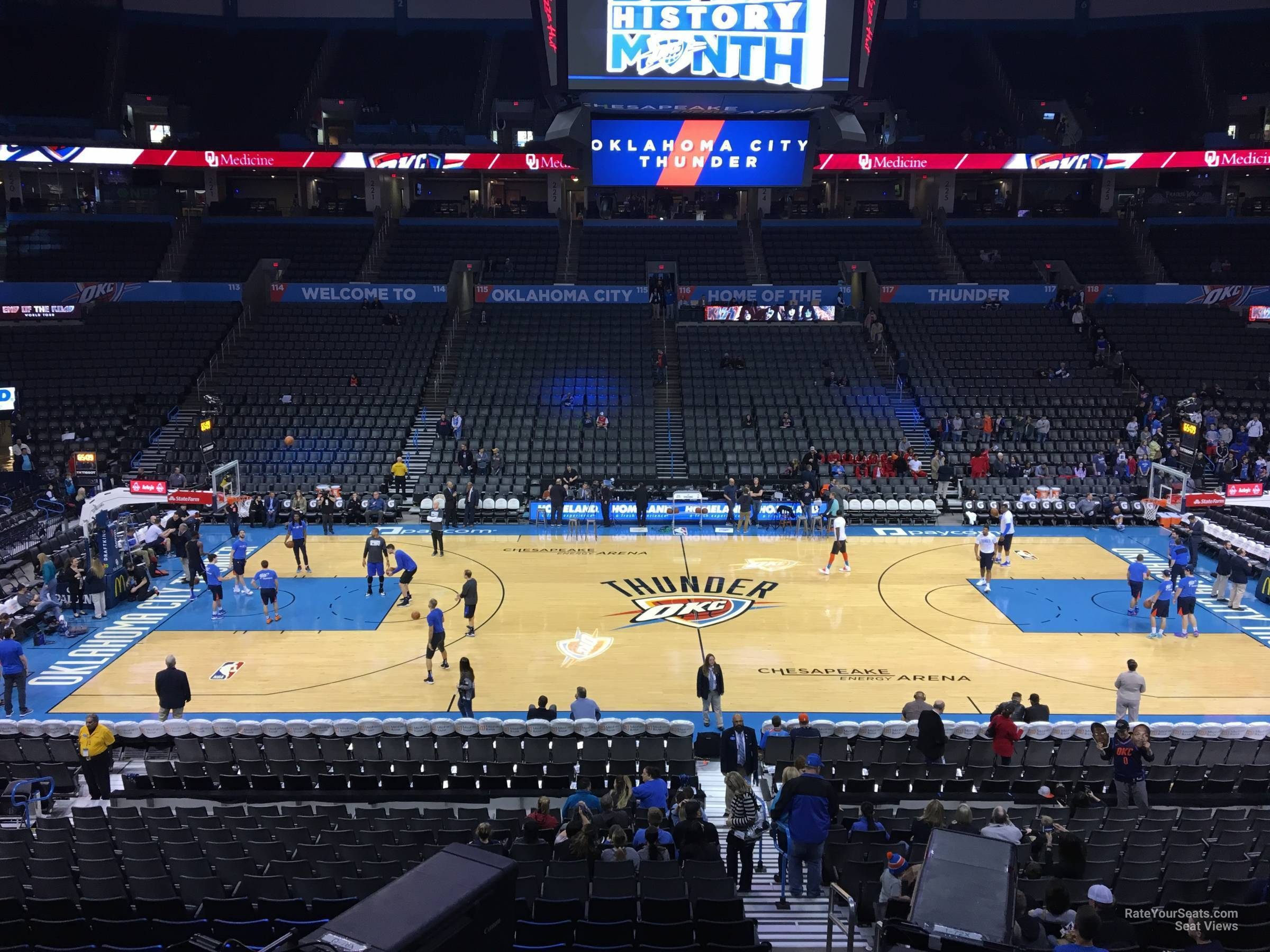 Seat View for Chesapeake Energy Arena Section 208, Row A