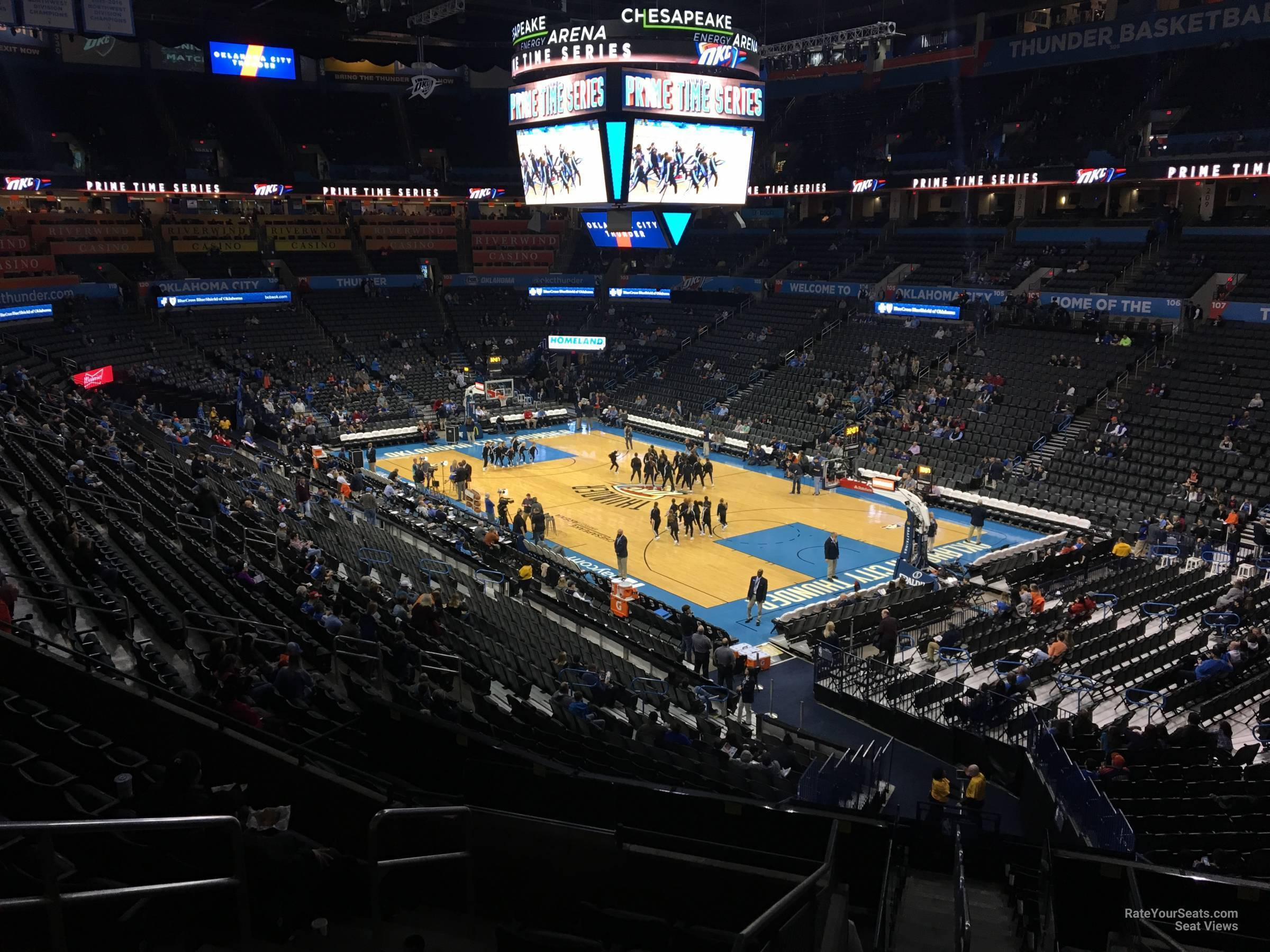 Seat View for Chesapeake Energy Arena Section 219, Row H