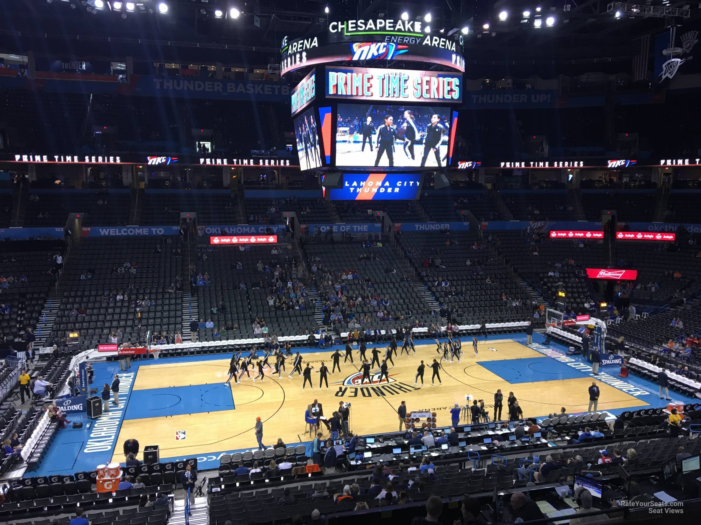 Seat View for Chesapeake Energy Arena Section 224, Row H