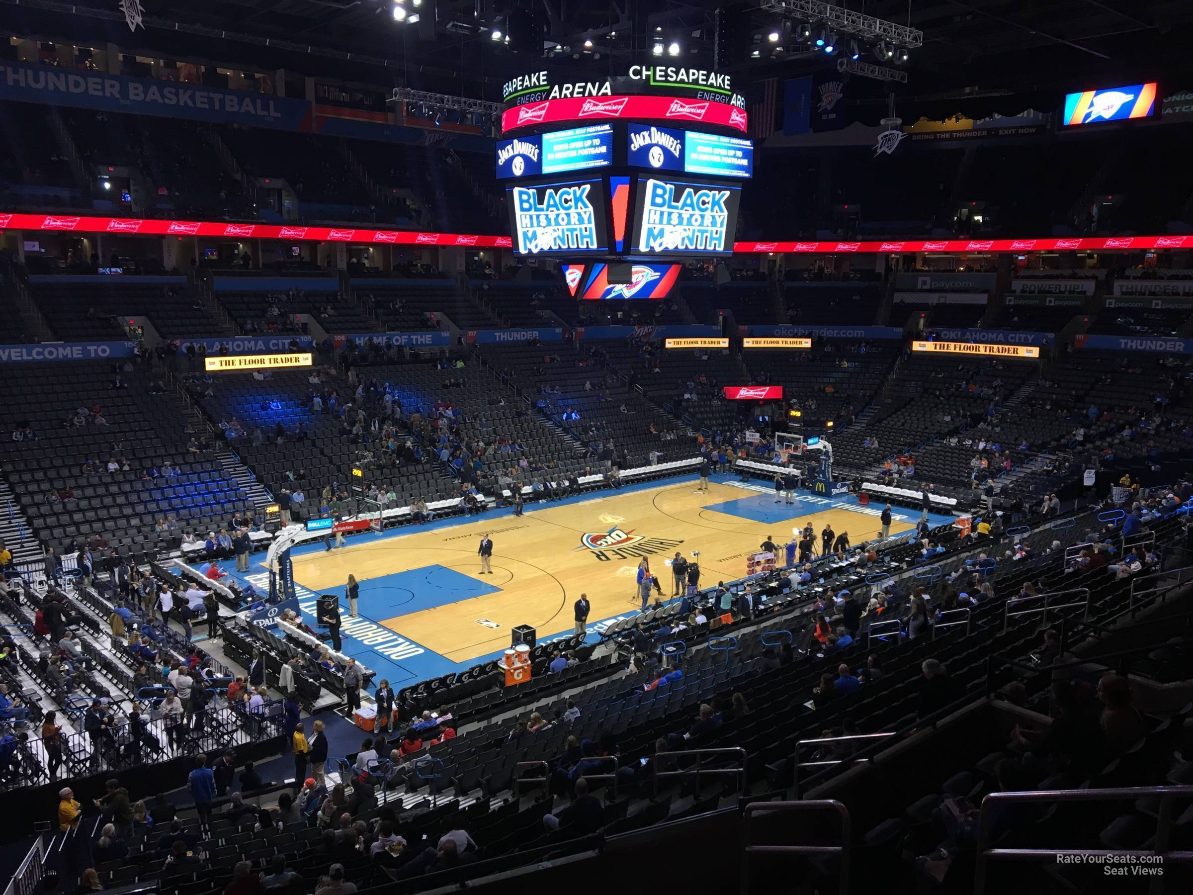 Seat View for Chesapeake Energy Arena Section 226, Row H