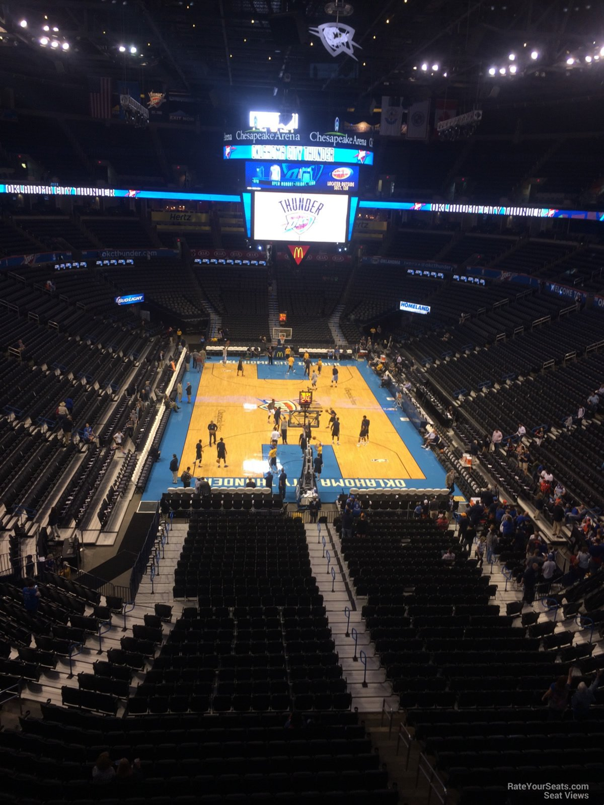 Seat View for Chesapeake Energy Arena Section 301, Row A