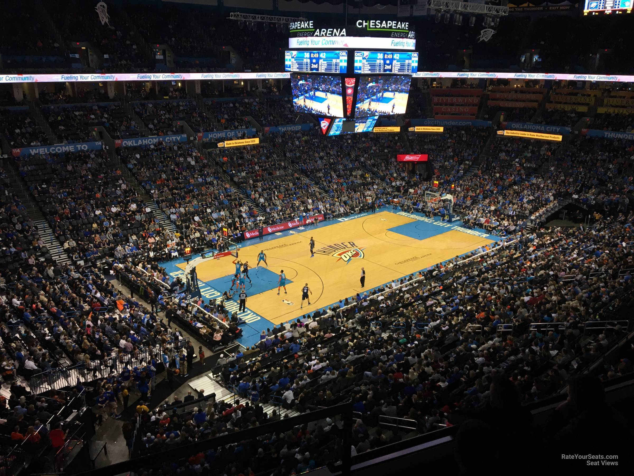 Seat View for Chesapeake Energy Arena Section 312, Row A