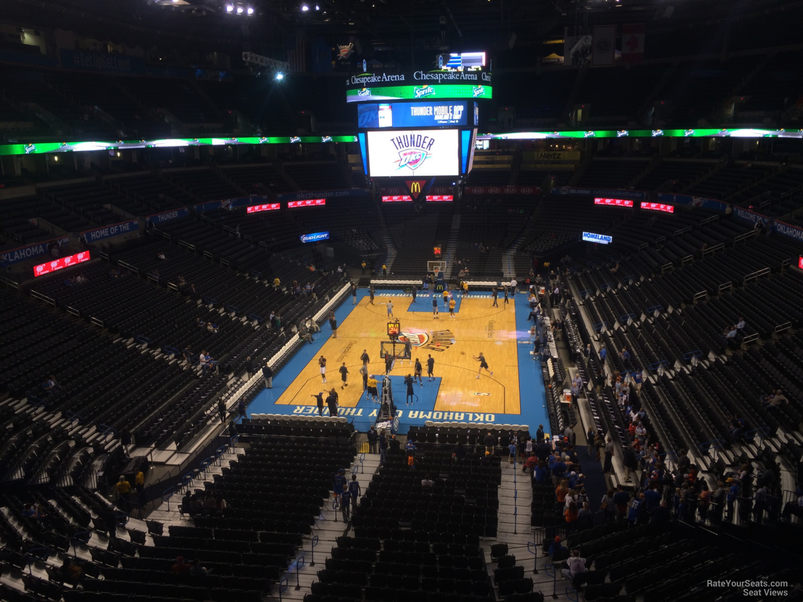 Seat View for Chesapeake Energy Arena Section 330, Row A
