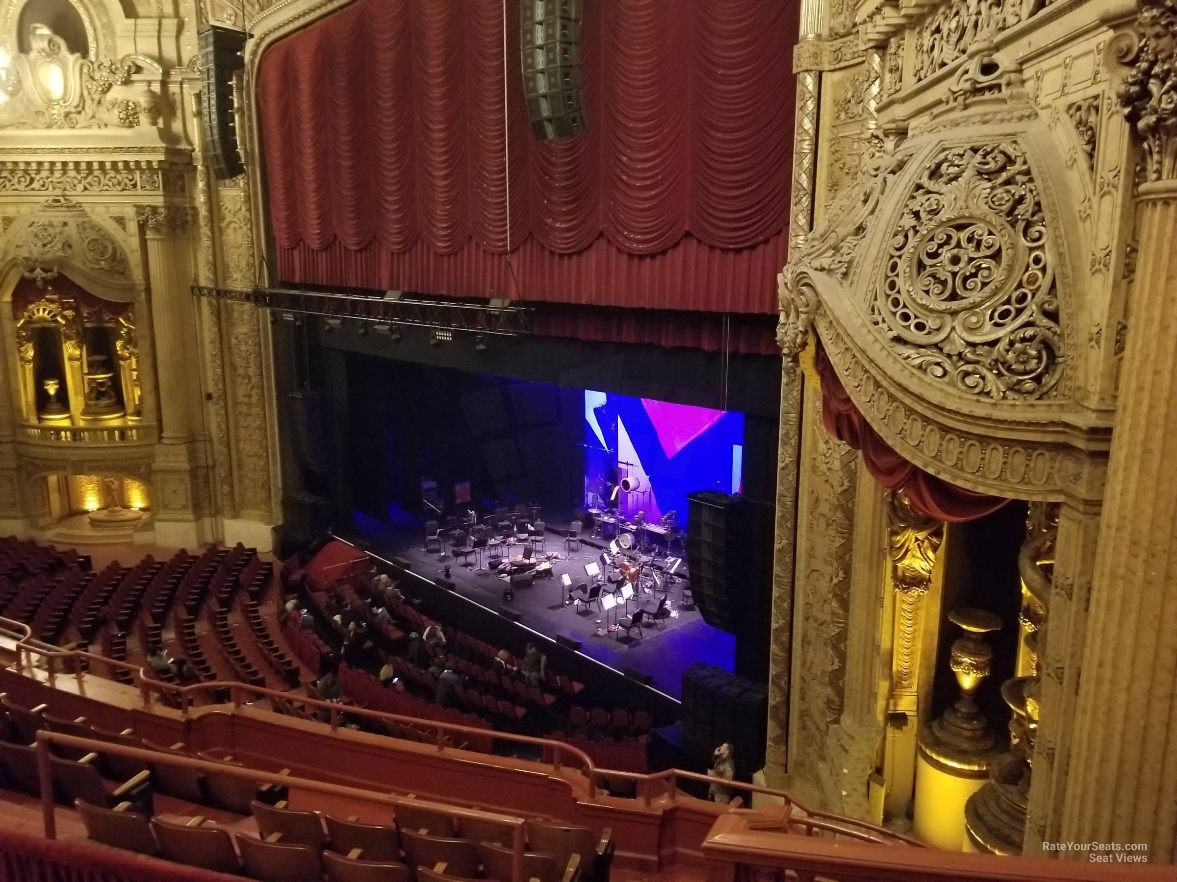 Balcony Box 11 at Chicago Theatre - RateYourSeats.com