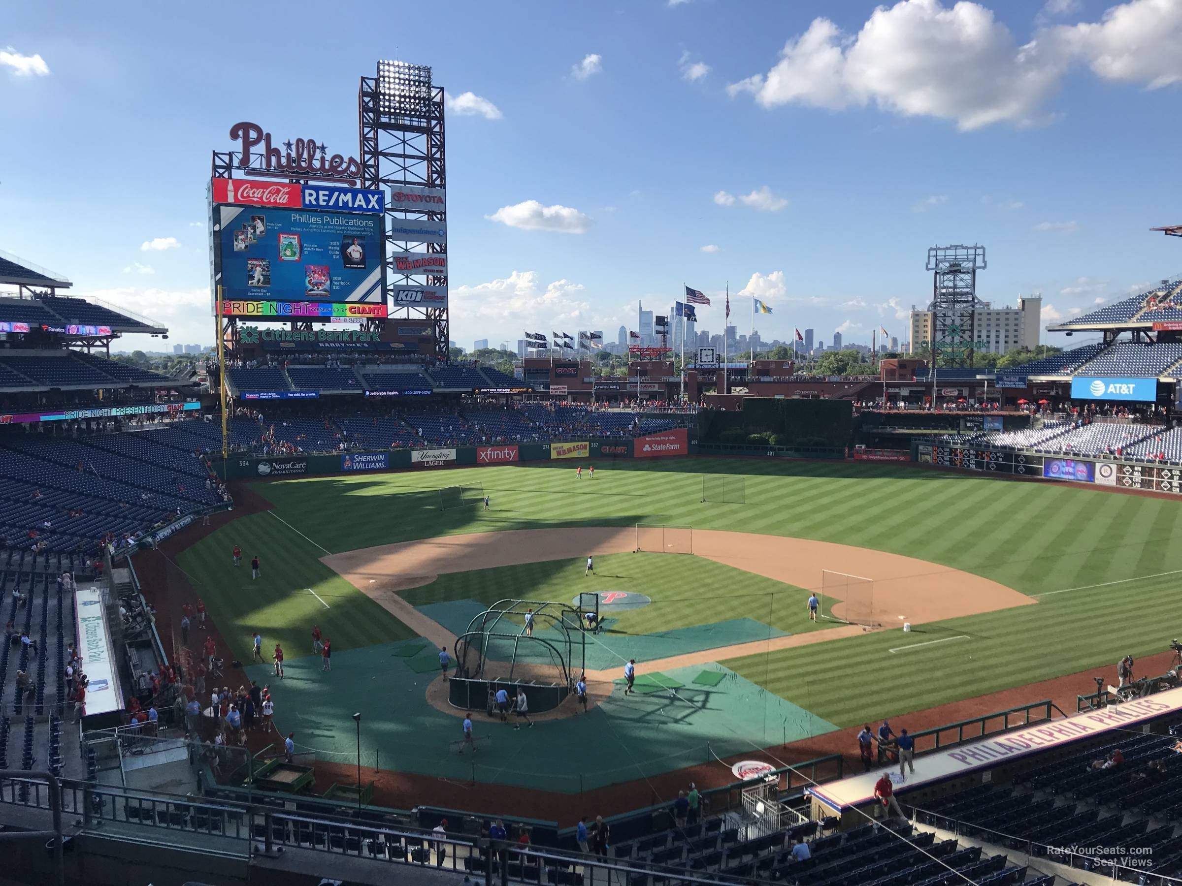 Hd Image Of Citizens Bank Park Section 220 Philadelphia Phillies Seating
