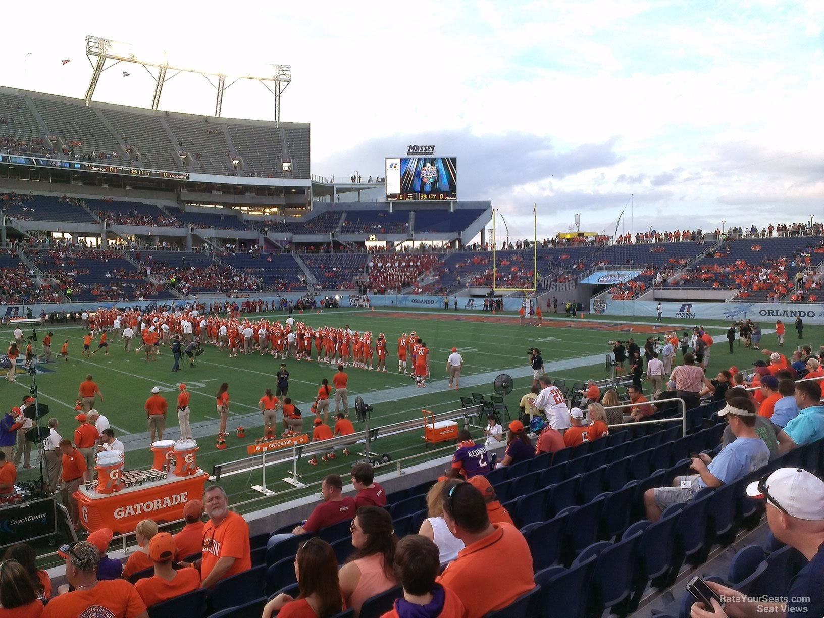 Seat View for Camping World Stadium Section 108, Row H