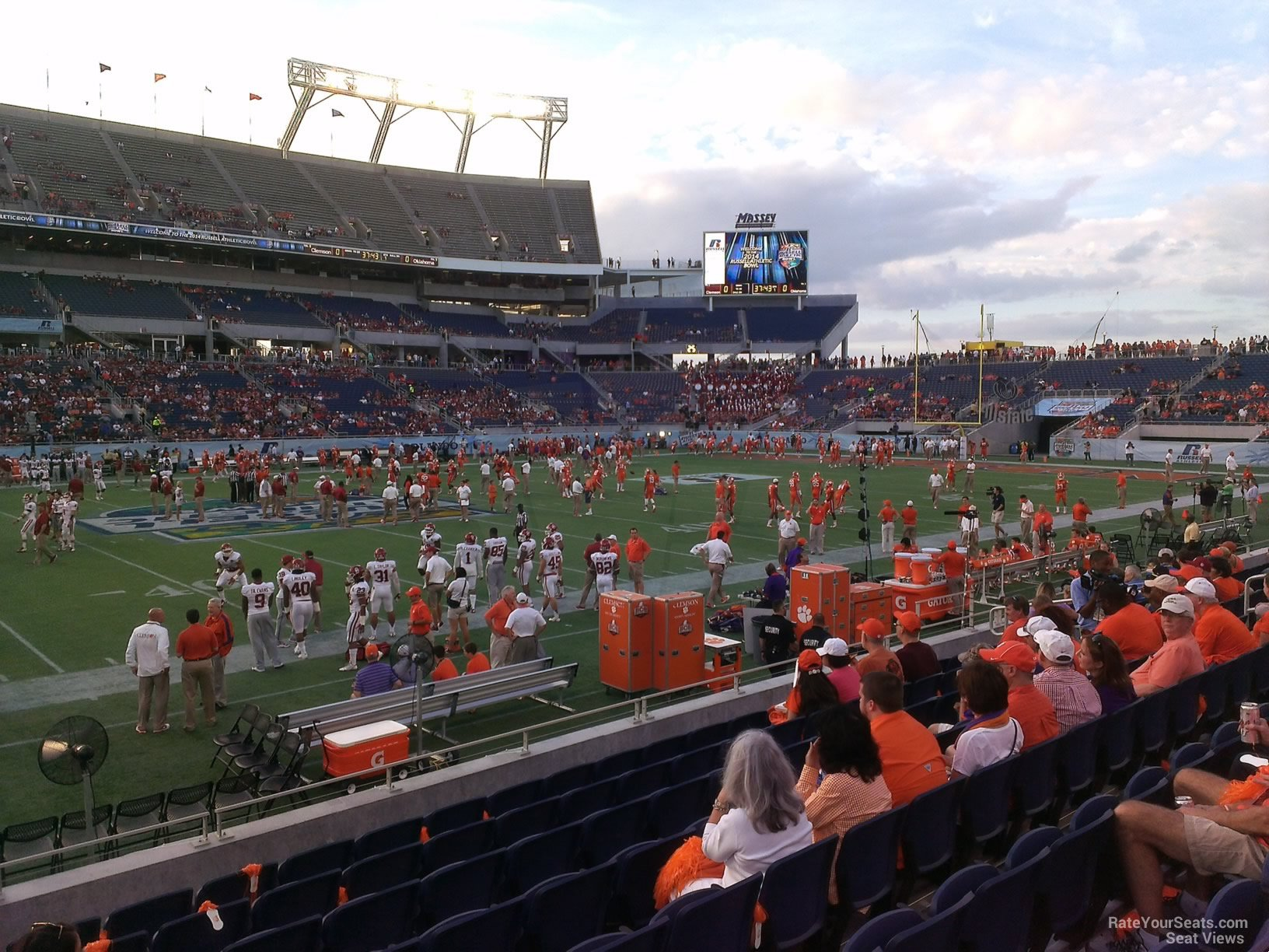 Seat View for Camping World Stadium Section 109, Row H