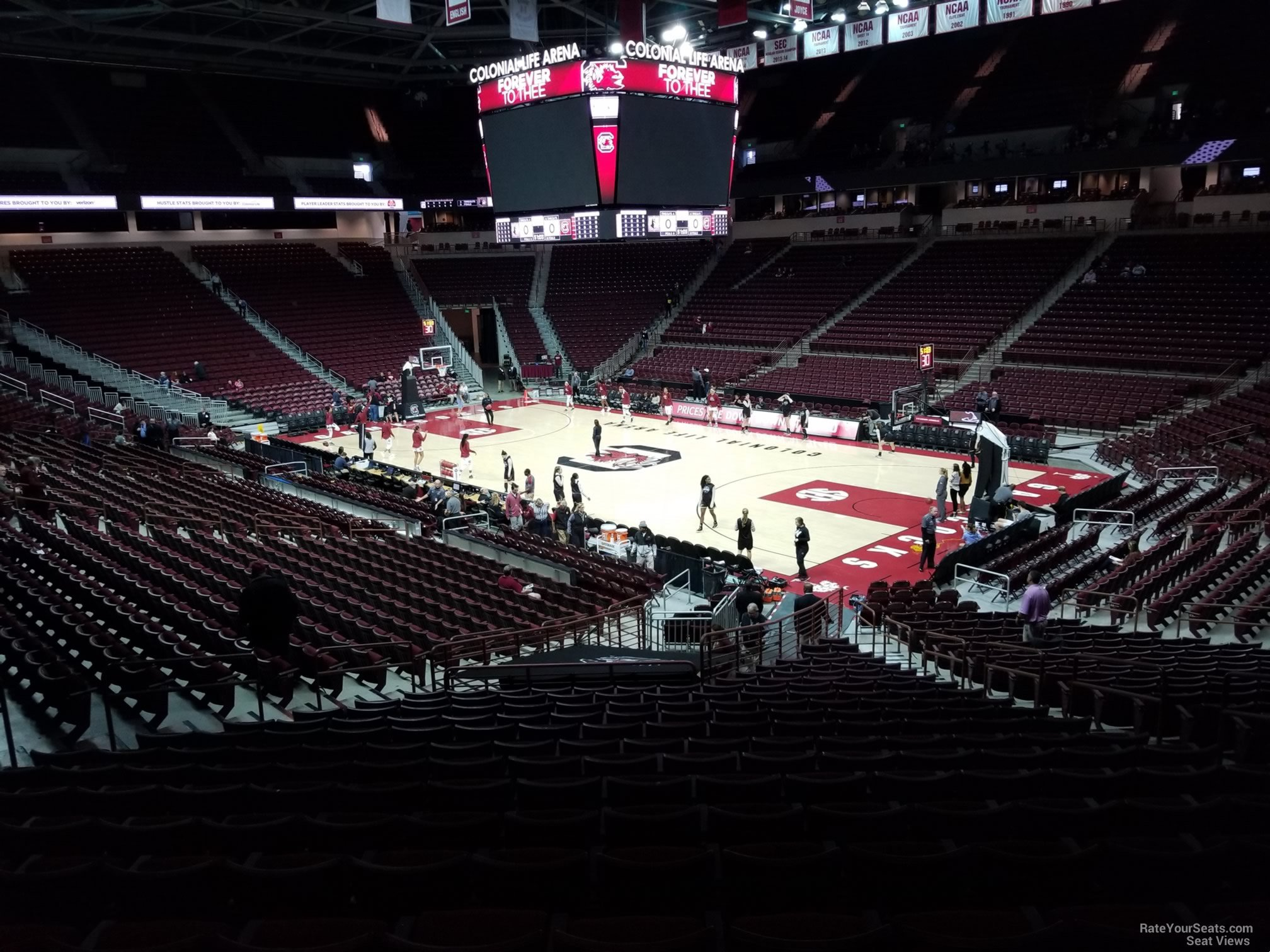 Seat View for Colonial Life Arena Section 103, Row 25