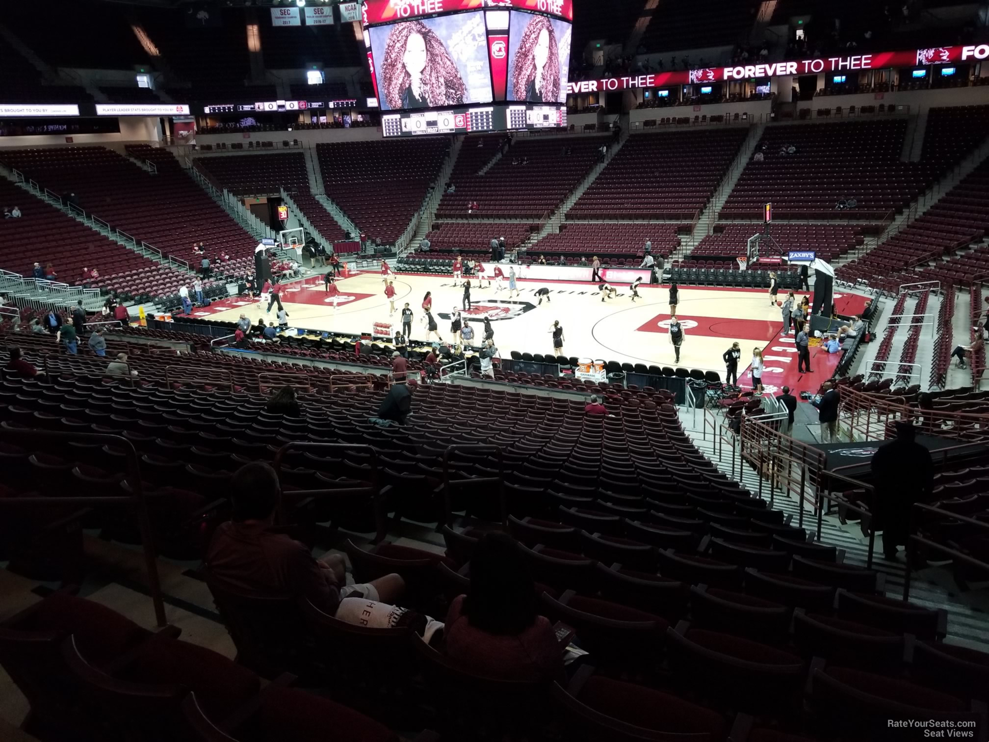 Seat View for Colonial Life Arena Section 104, Row 25