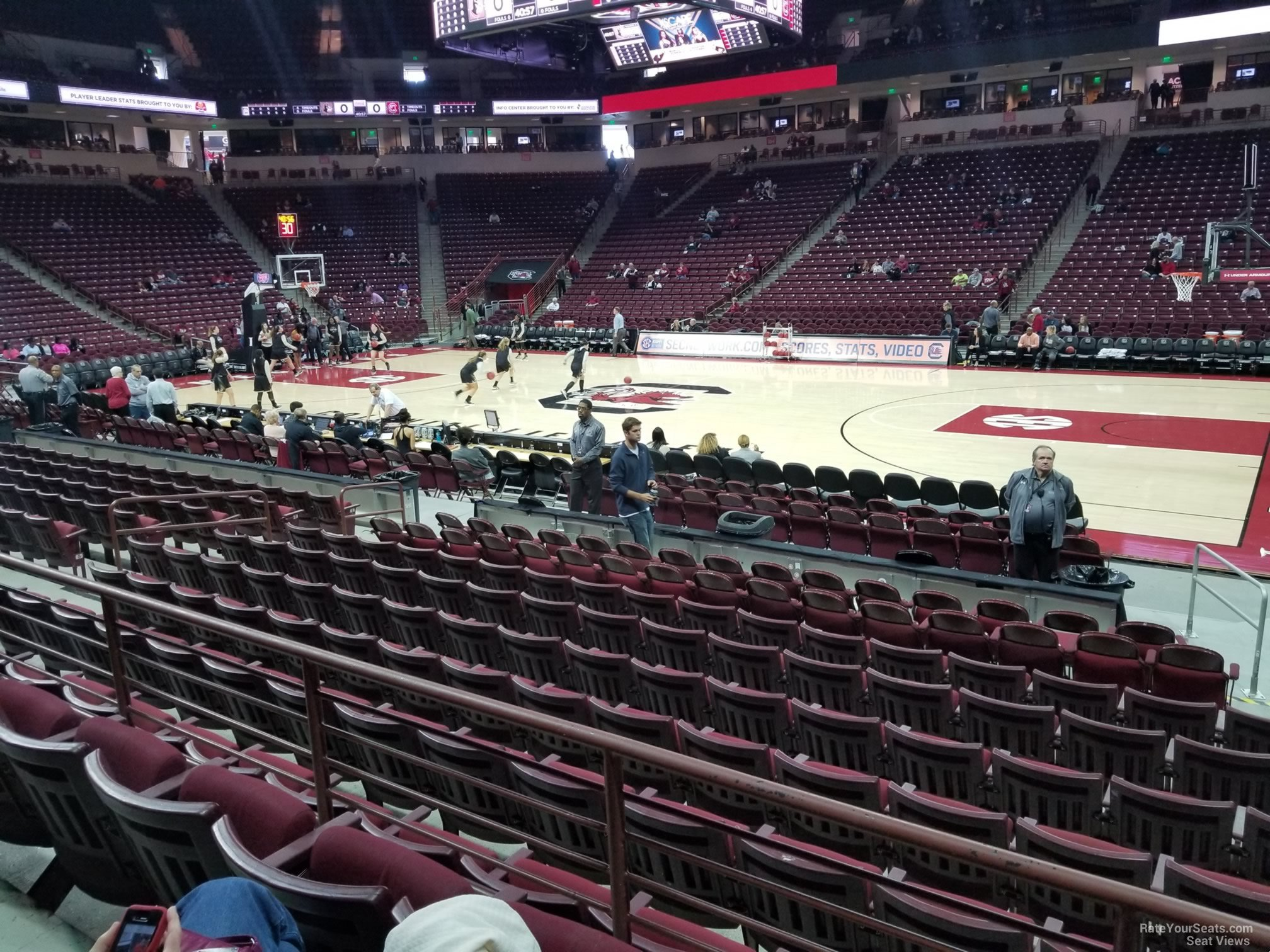 Seat View for Colonial Life Arena Section 113, Row 10