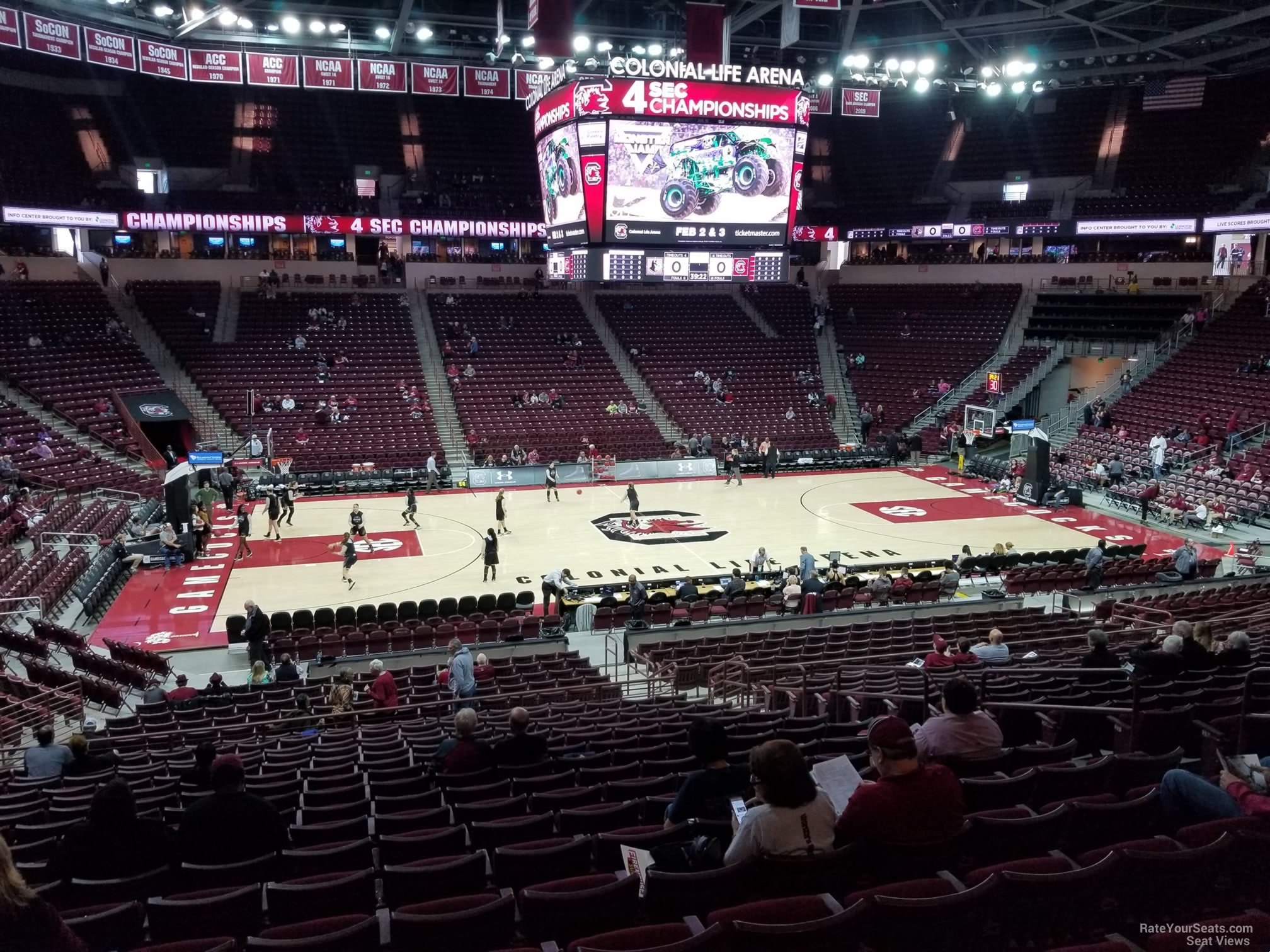 Seat View for Colonial Life Arena Section 115, Row 25