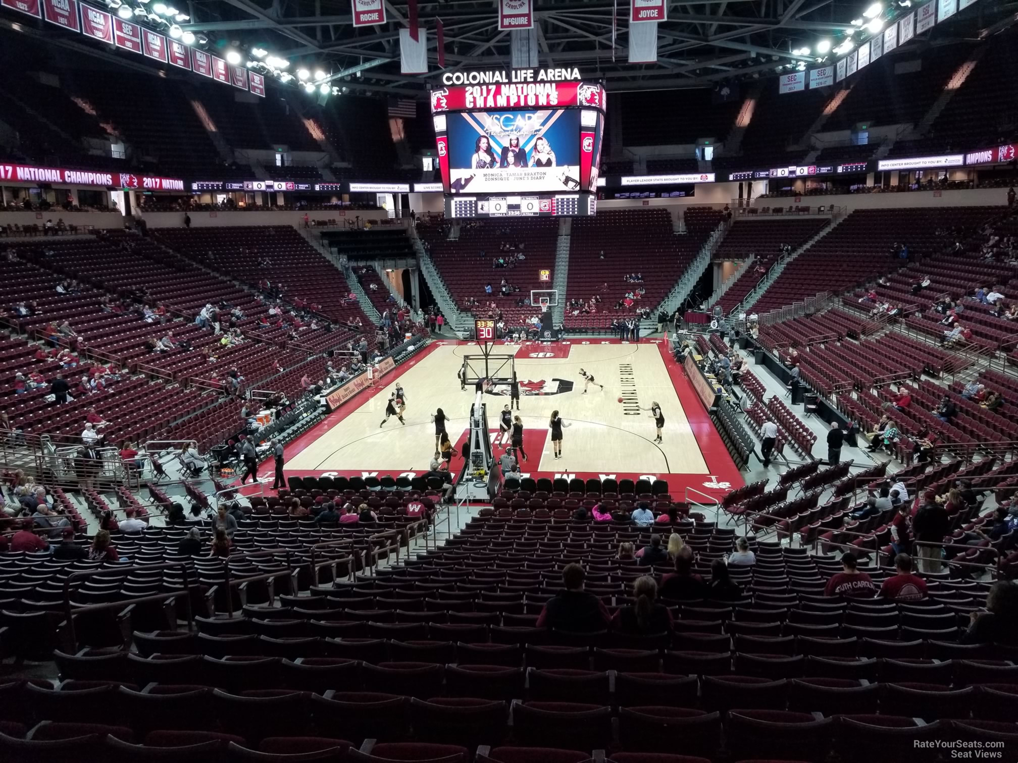 Seat View for Colonial Life Arena Section 118, Row 25