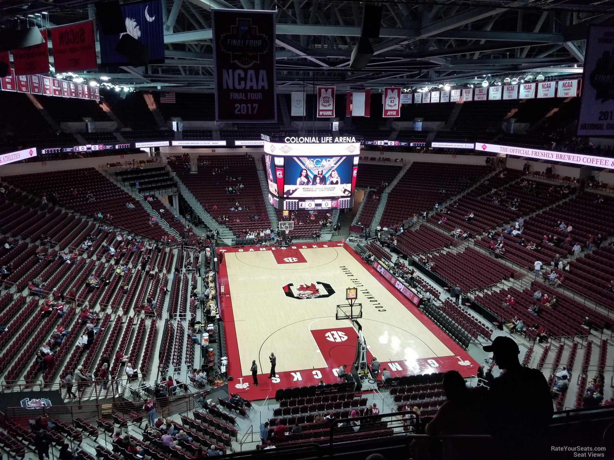 Seat View for Colonial Life Arena Section 202, Row 7