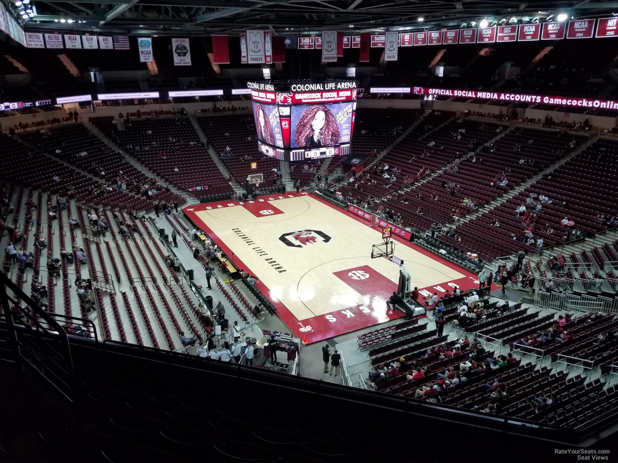 Seat View for Colonial Life Arena Section 217, Row 7