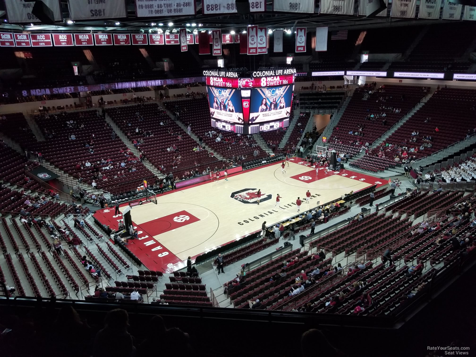 Seat View for Colonial Life Arena Section 225, Row 7