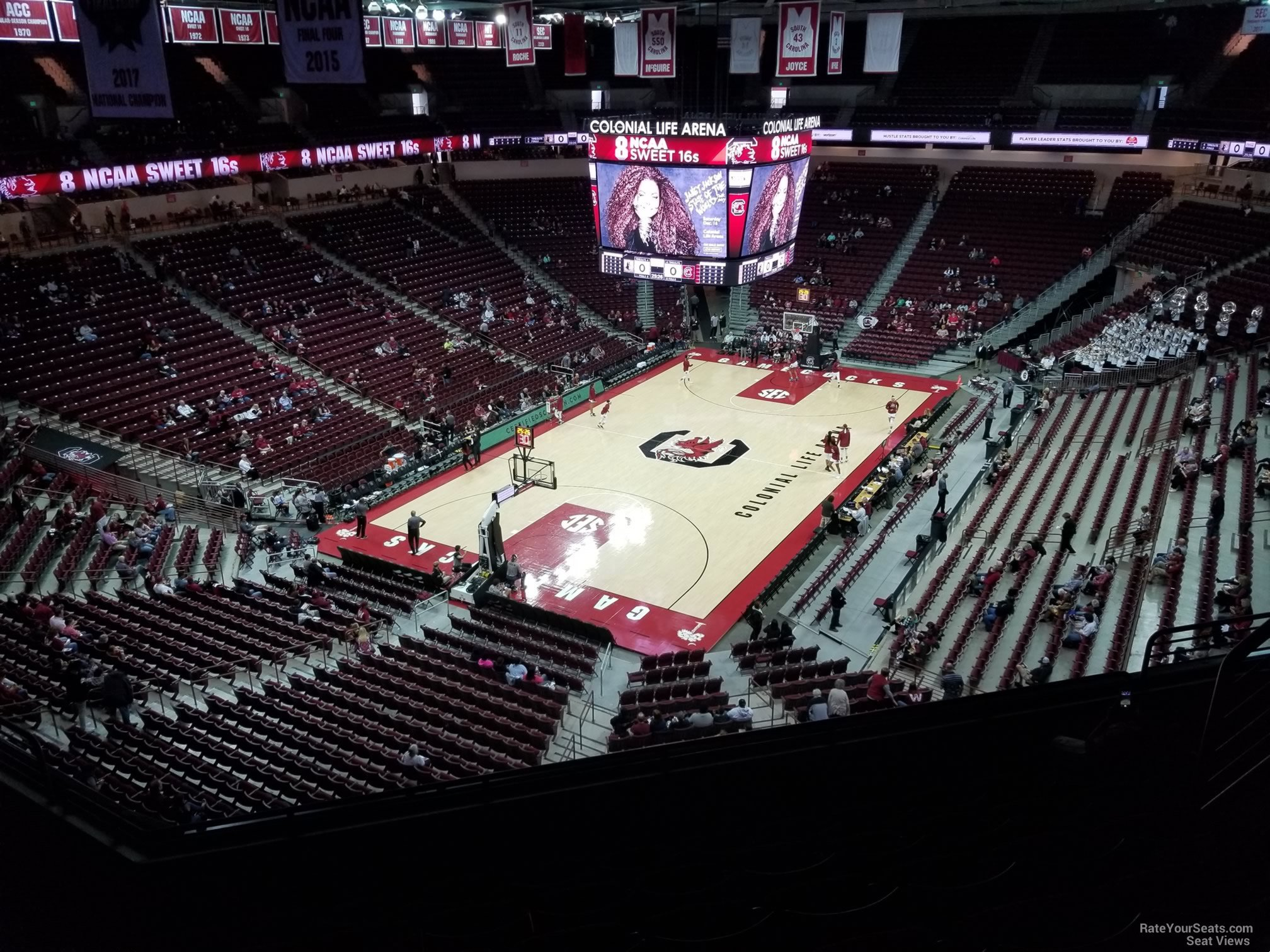 Seat View for Colonial Life Arena Section 227, Row 7