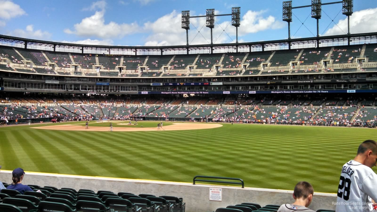 Seat View For Comerica Park Section 101
