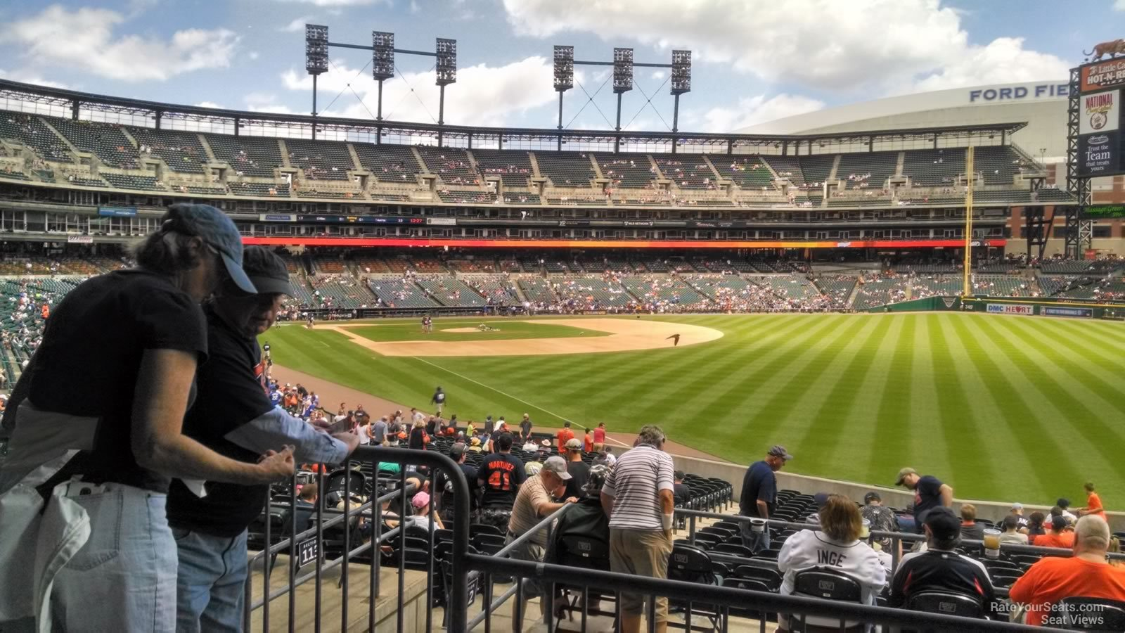 View from Section 112 Row 40 at Comerica Park