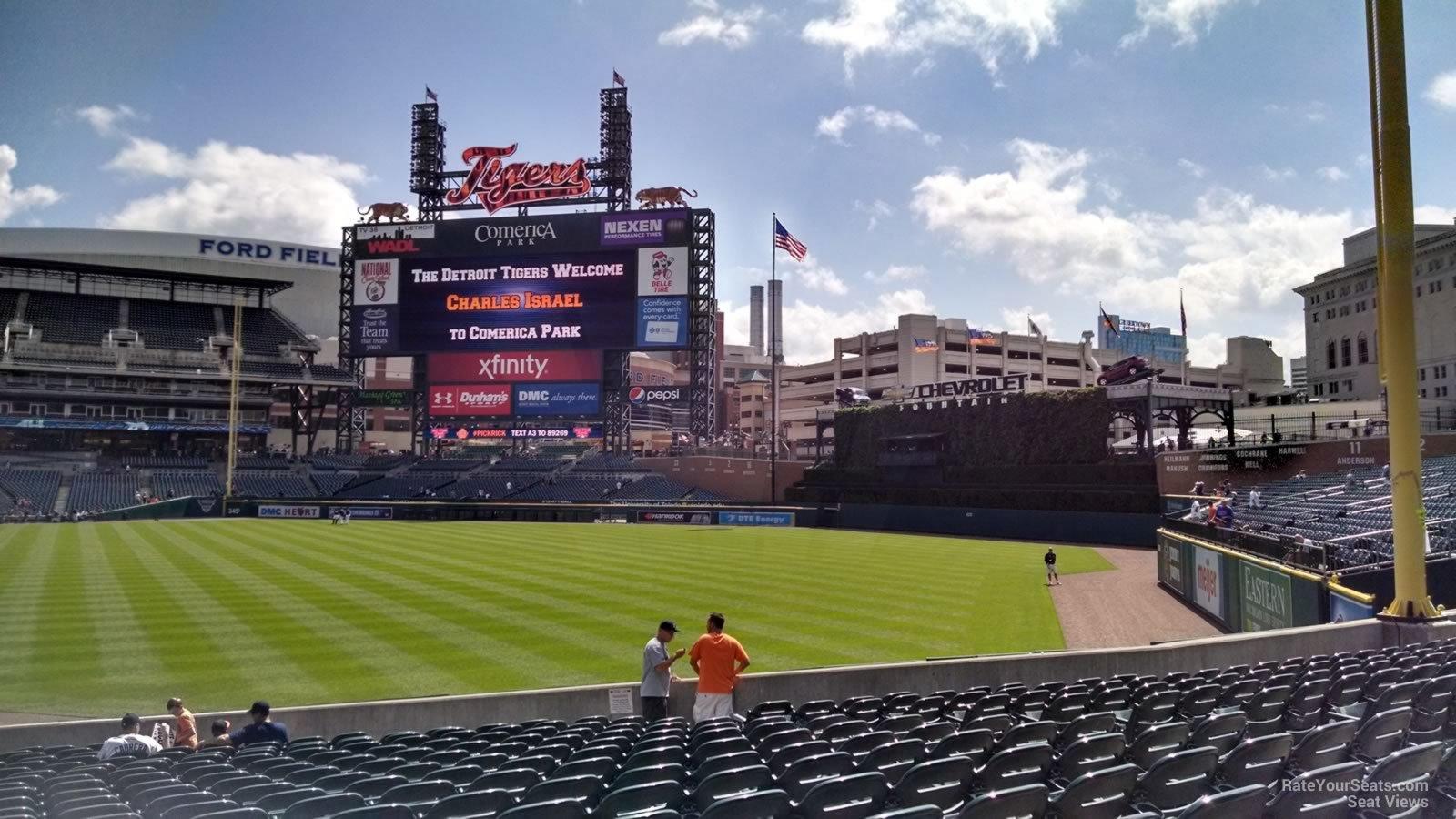 Comerica Park Section 113 - Detroit Tigers - RateYourSeats.com