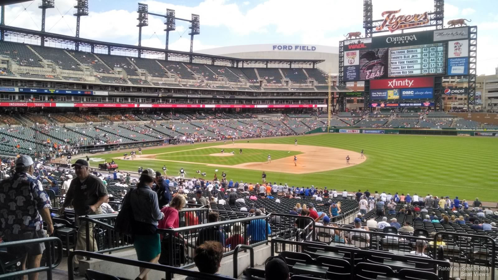 Seat View For Comerica Park Terrace 117