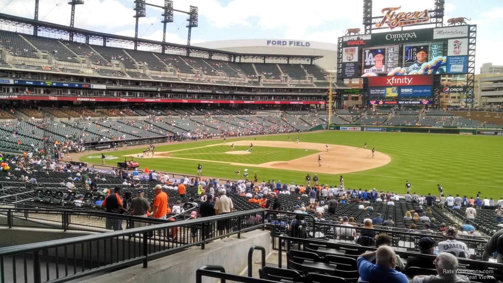 Comerica Park Pictures With Sunlight