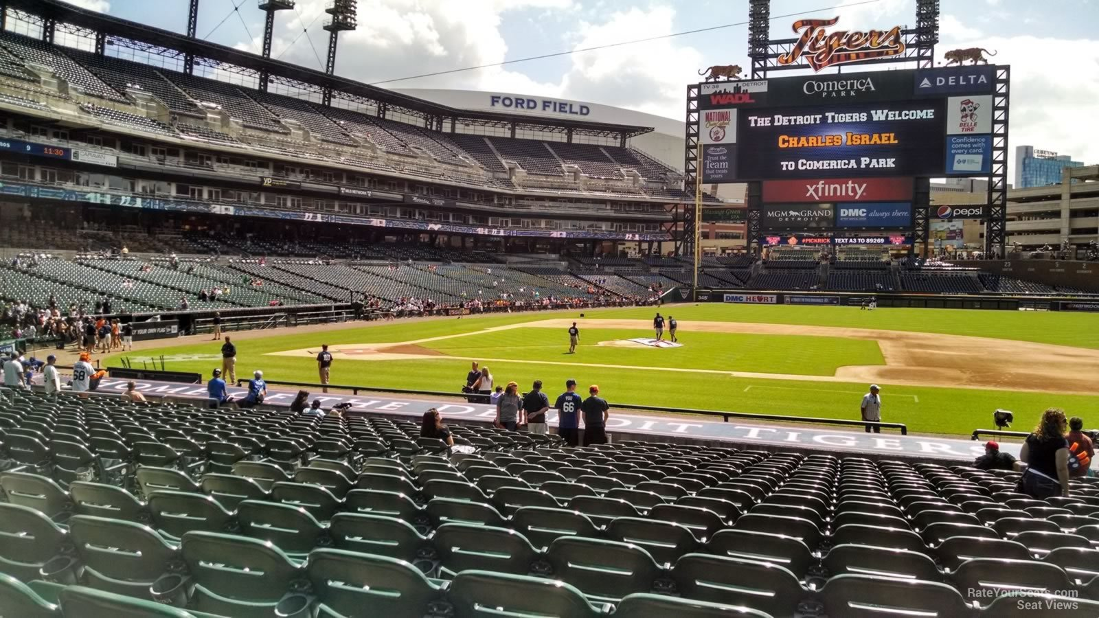 Seat View For Comerica Park Section 121
