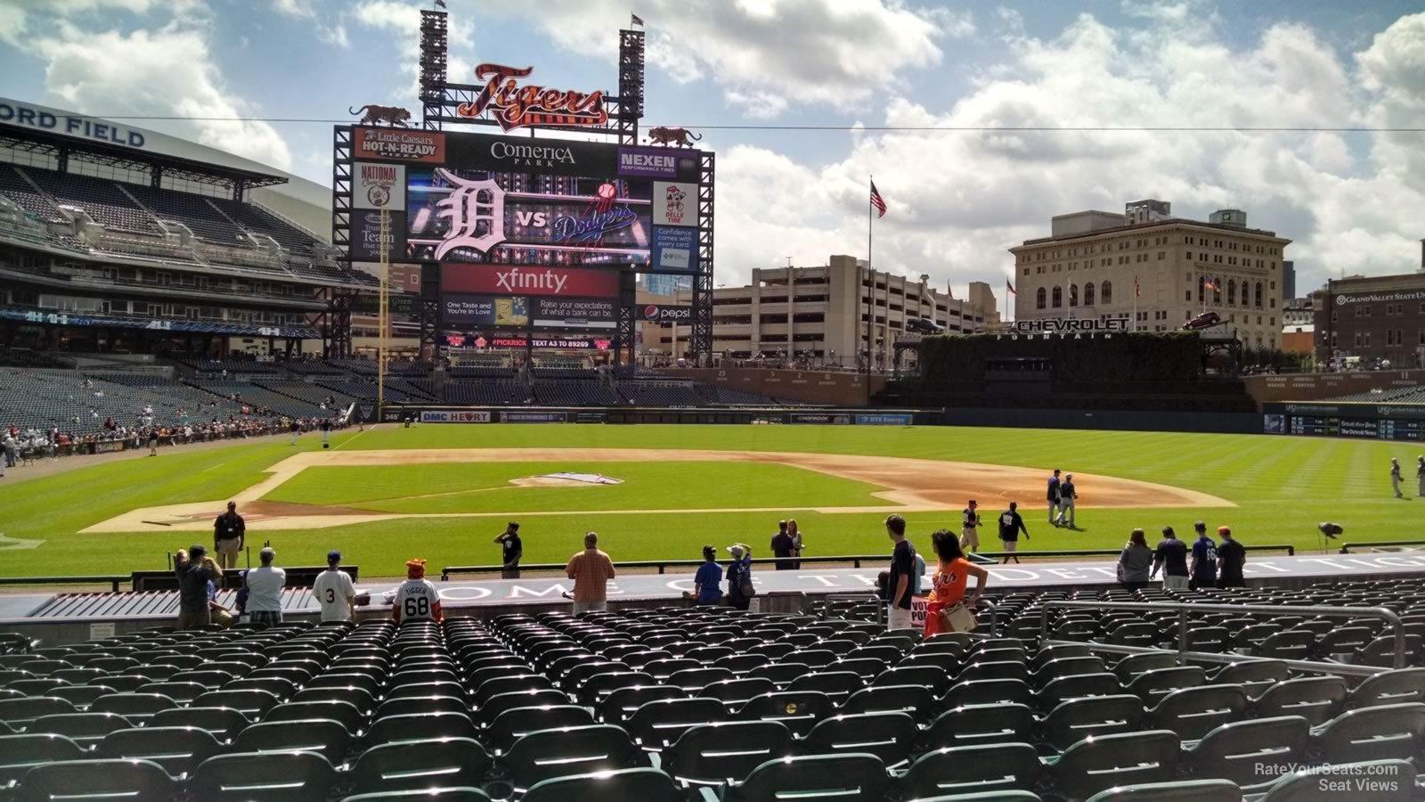 Comerica Park Section 123 Detroit Tigers Rateyourseatscom