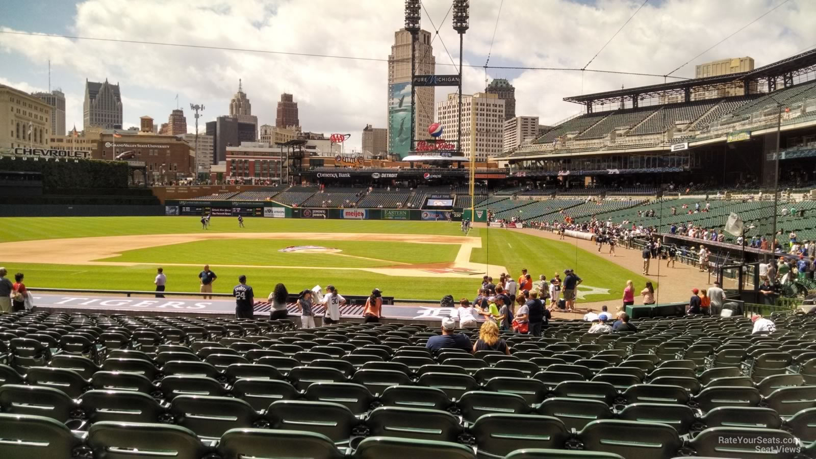 Seat View for Comerica Park Section 131, Row 26