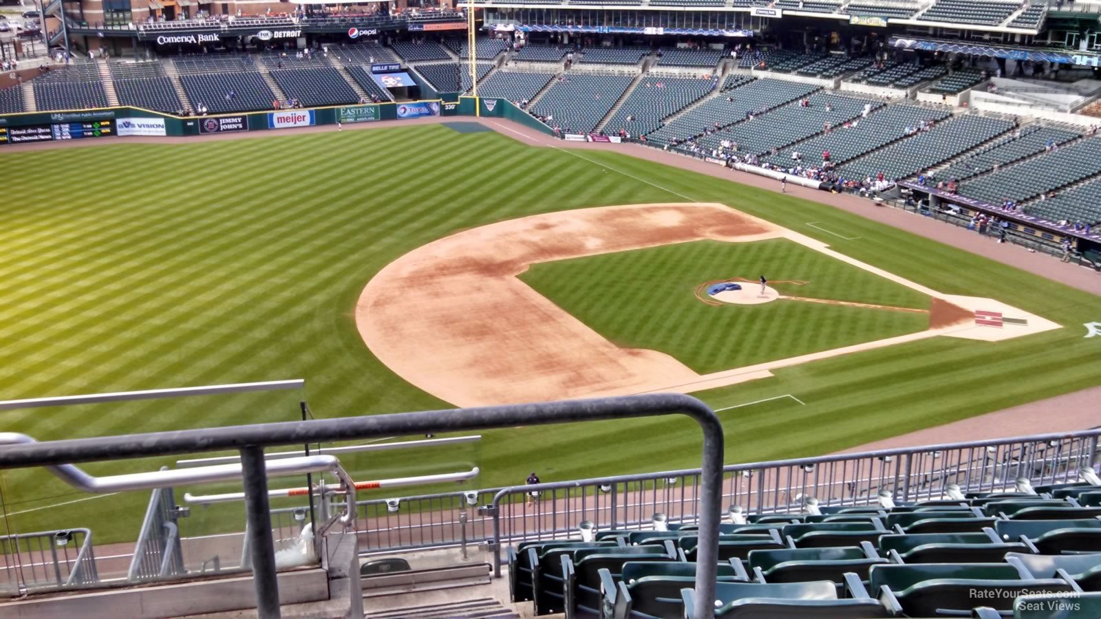 Seat View for Comerica Park Section 336, Row 8