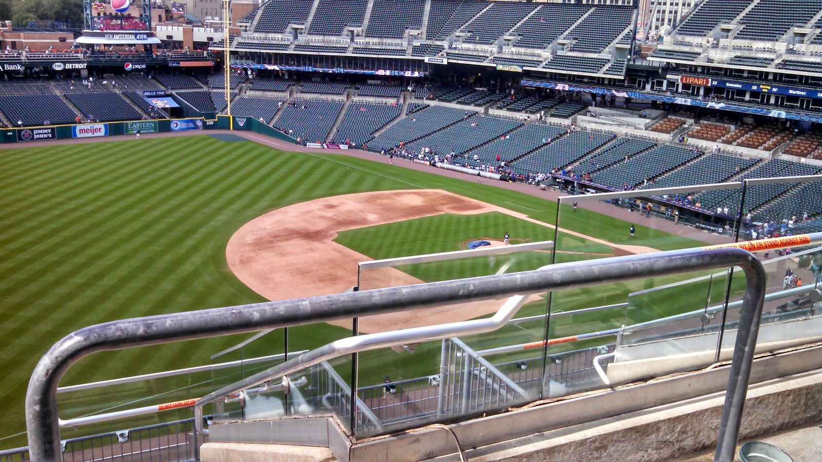 Seat View for Comerica Park Section 338, Row 7, Seat 4