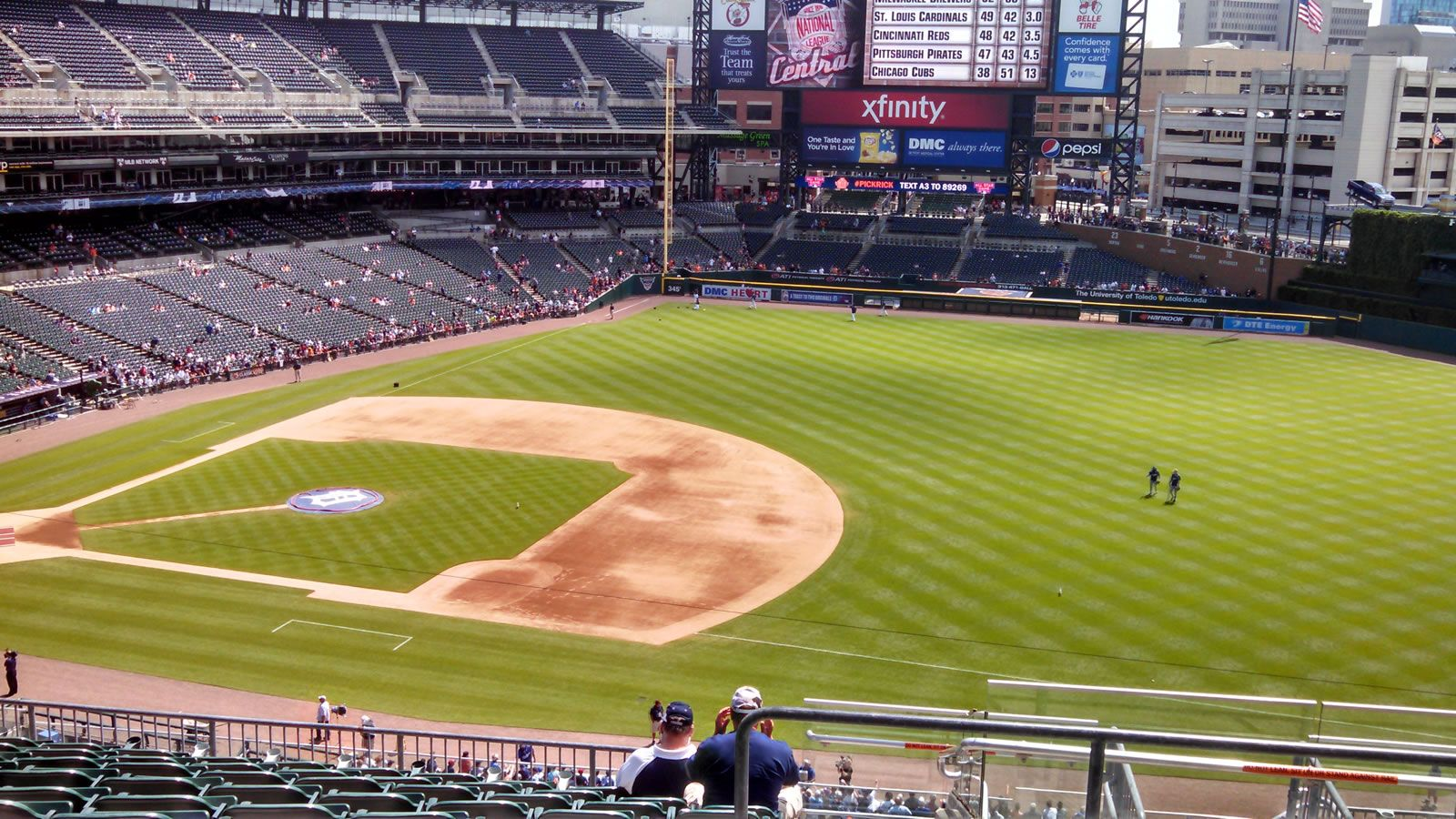 Seat View for Comerica Park Section 218, Row 11, Seat 7