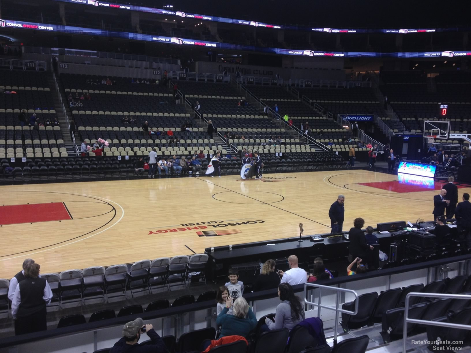 Basketball Seat View for PPG Paints Arena Section 103, Row G