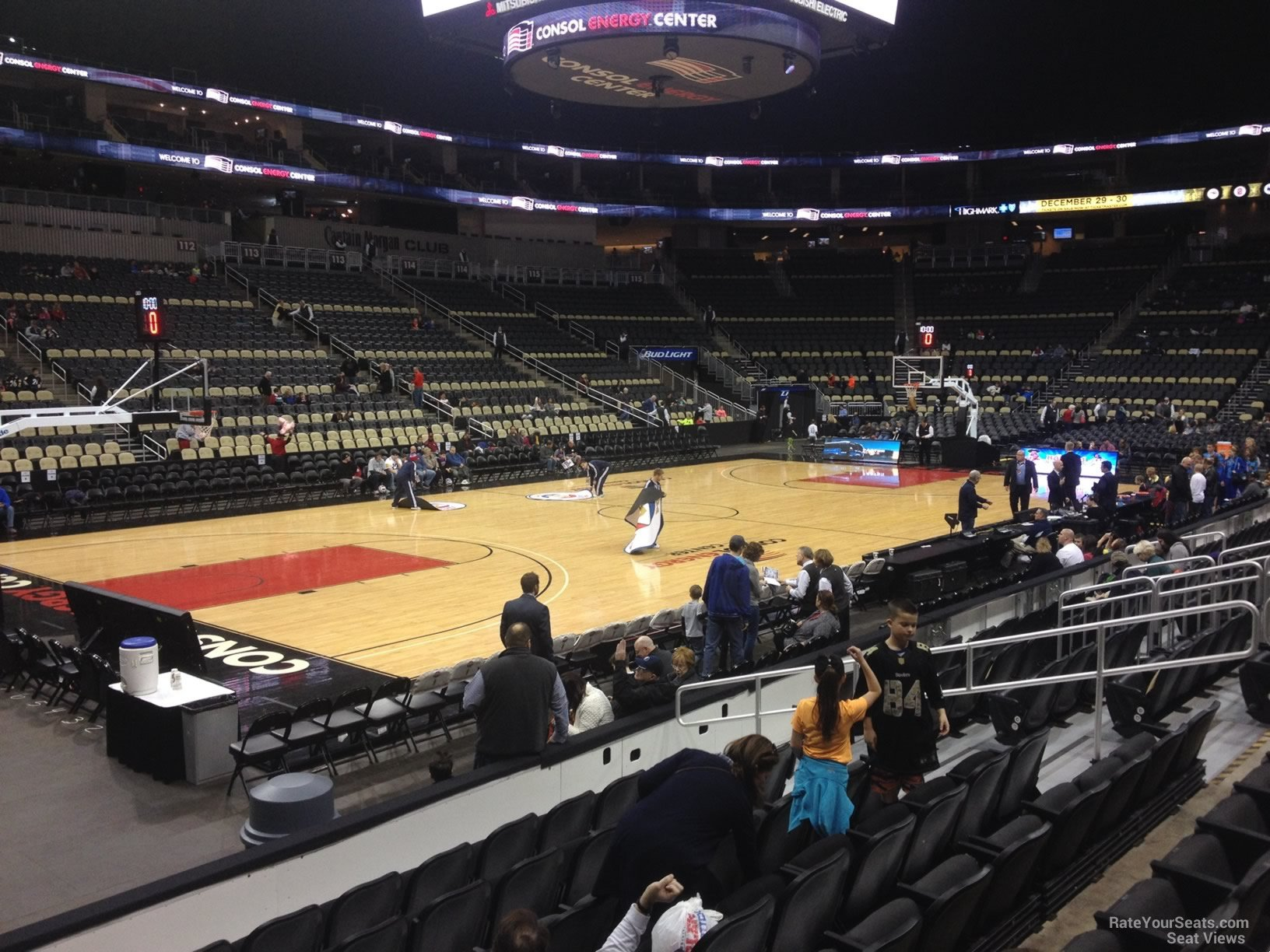 Basketball Seat View for PPG Paints Arena Section 104, Row G