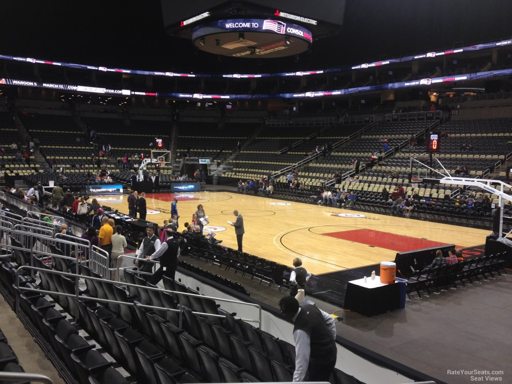 Ppg Paints Arena Section 121 Basketball Seating