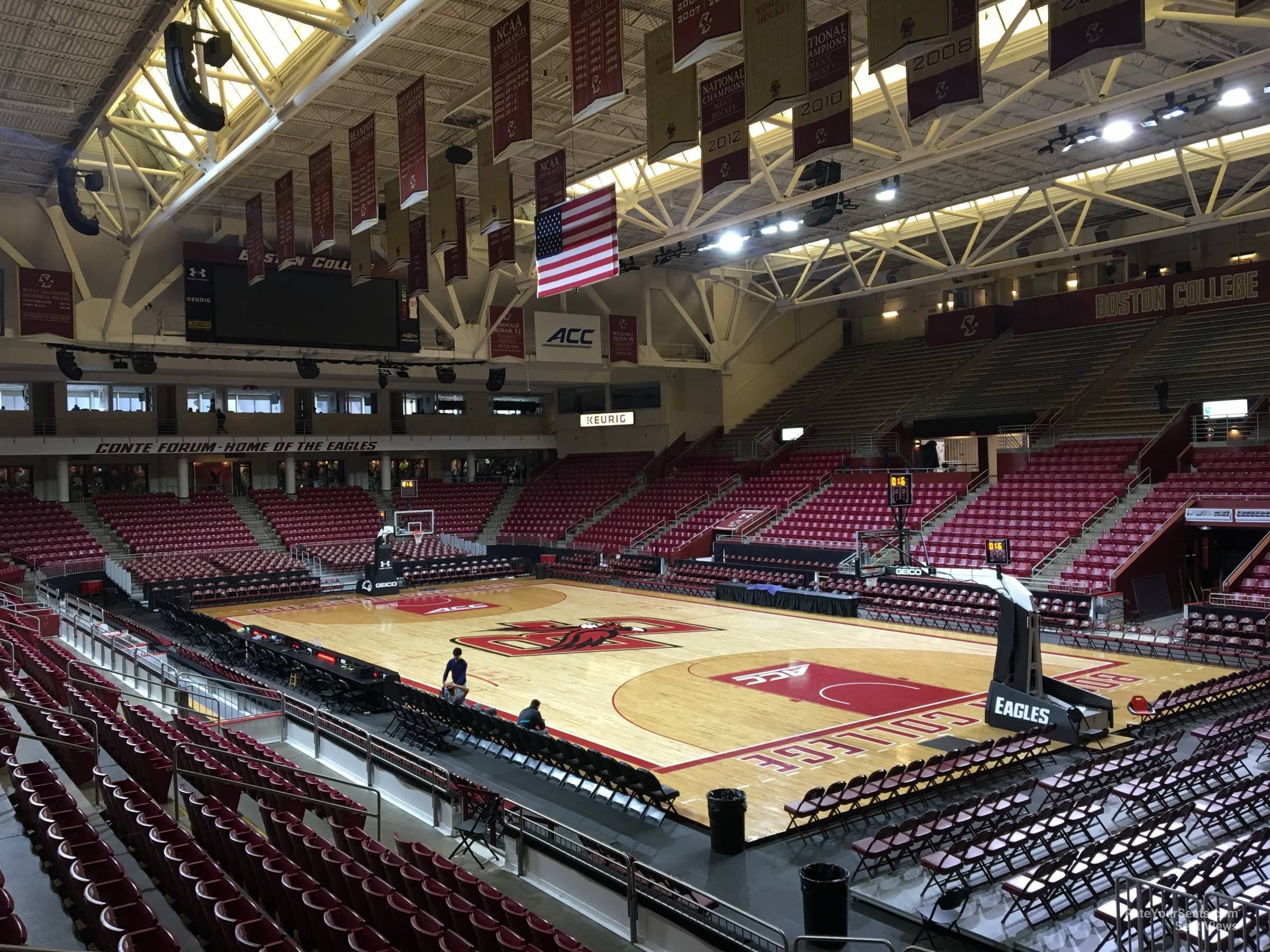 Seat View for Conte Forum Section I, Row 11