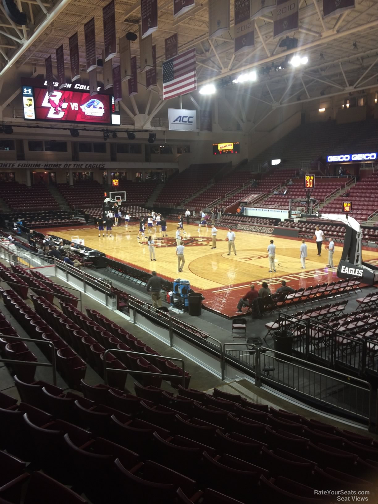 Seat View for Conte Forum Section I, Row 10