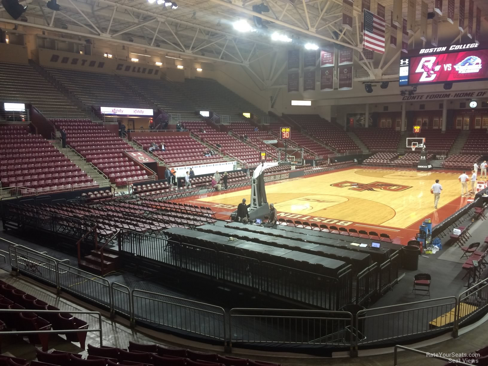 Seat View for Conte Forum Section Q, Row 10