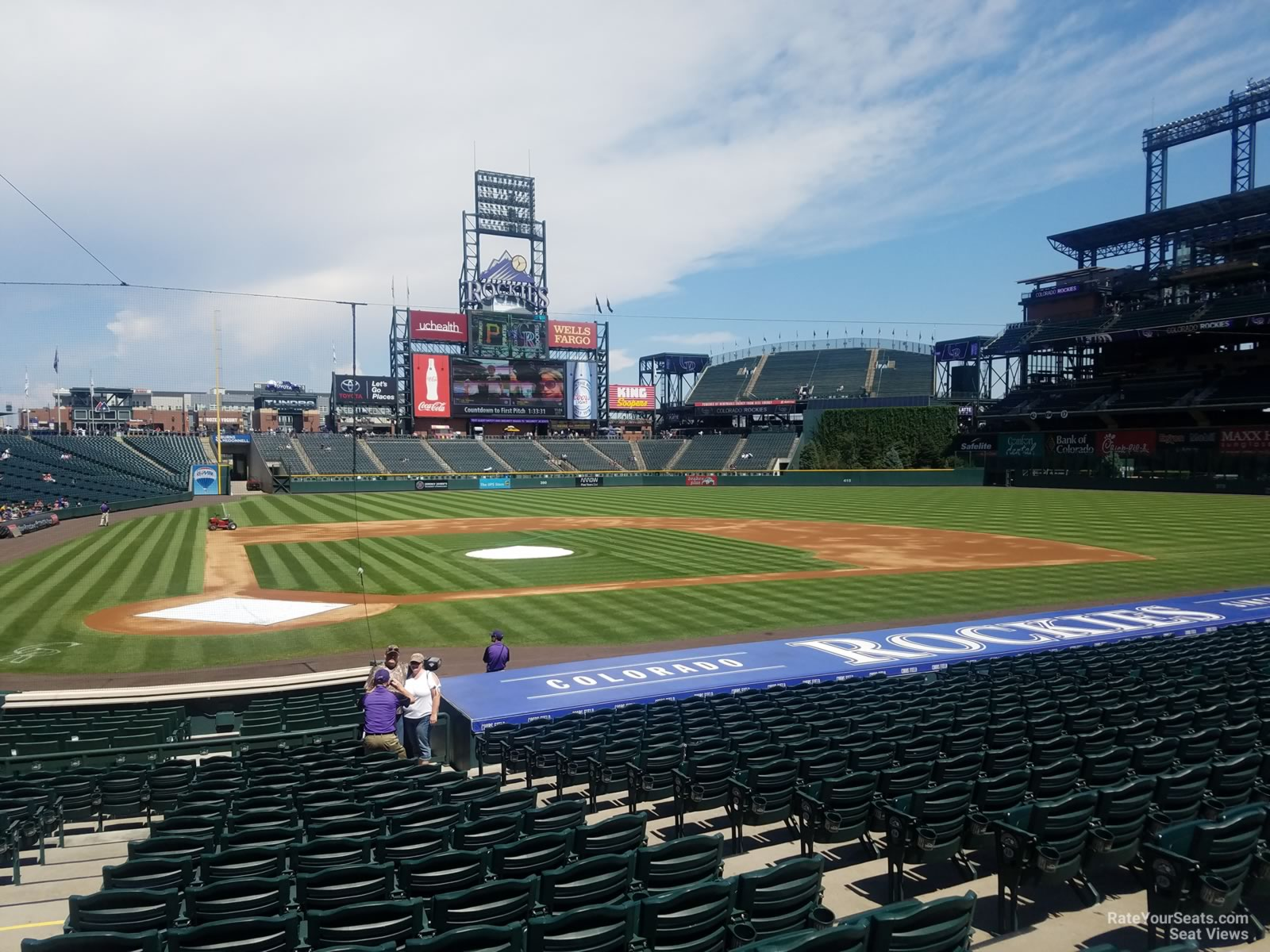Seat View For Coors Field Section 126