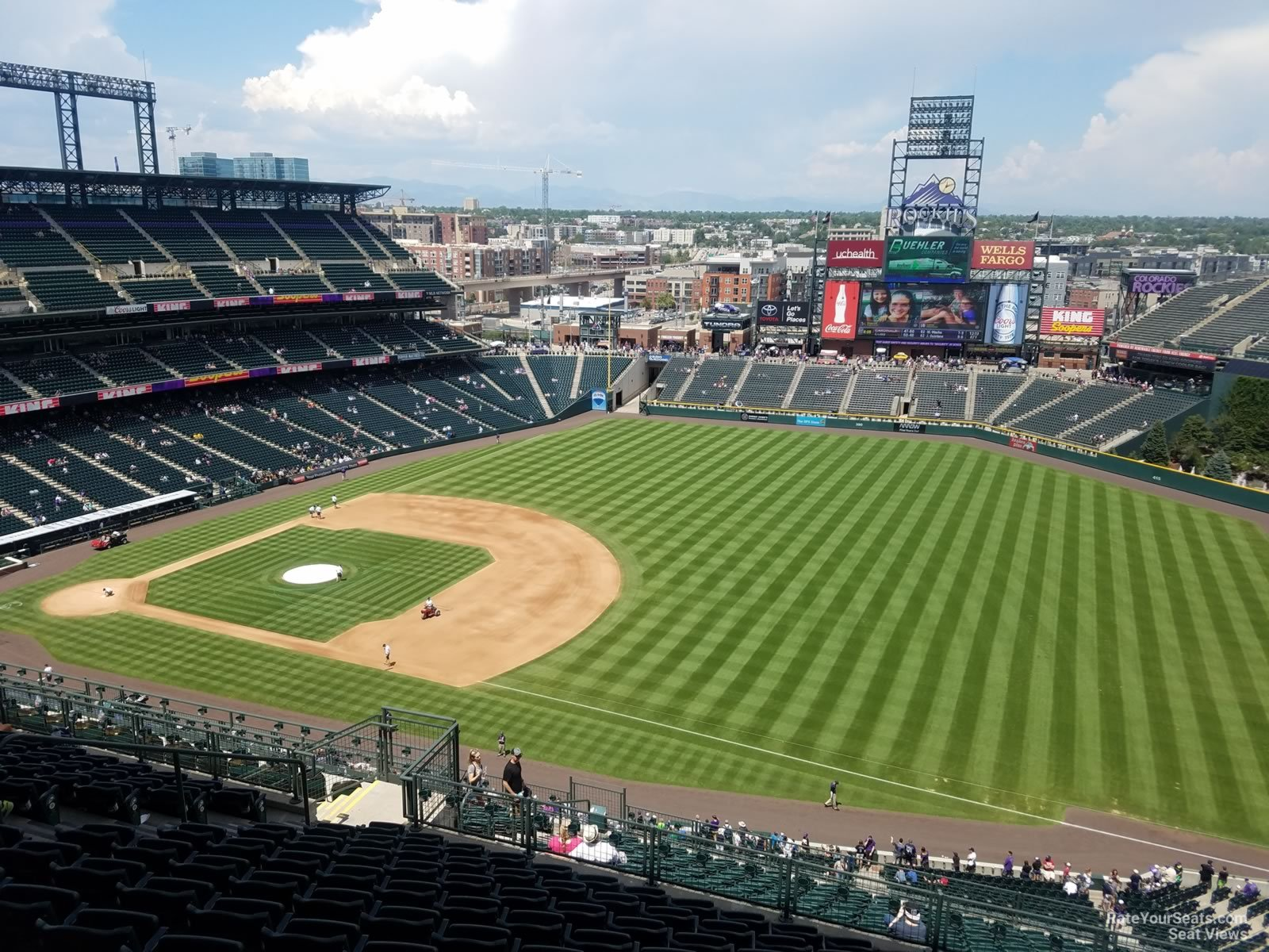 Seat View For Coors Field Section 317