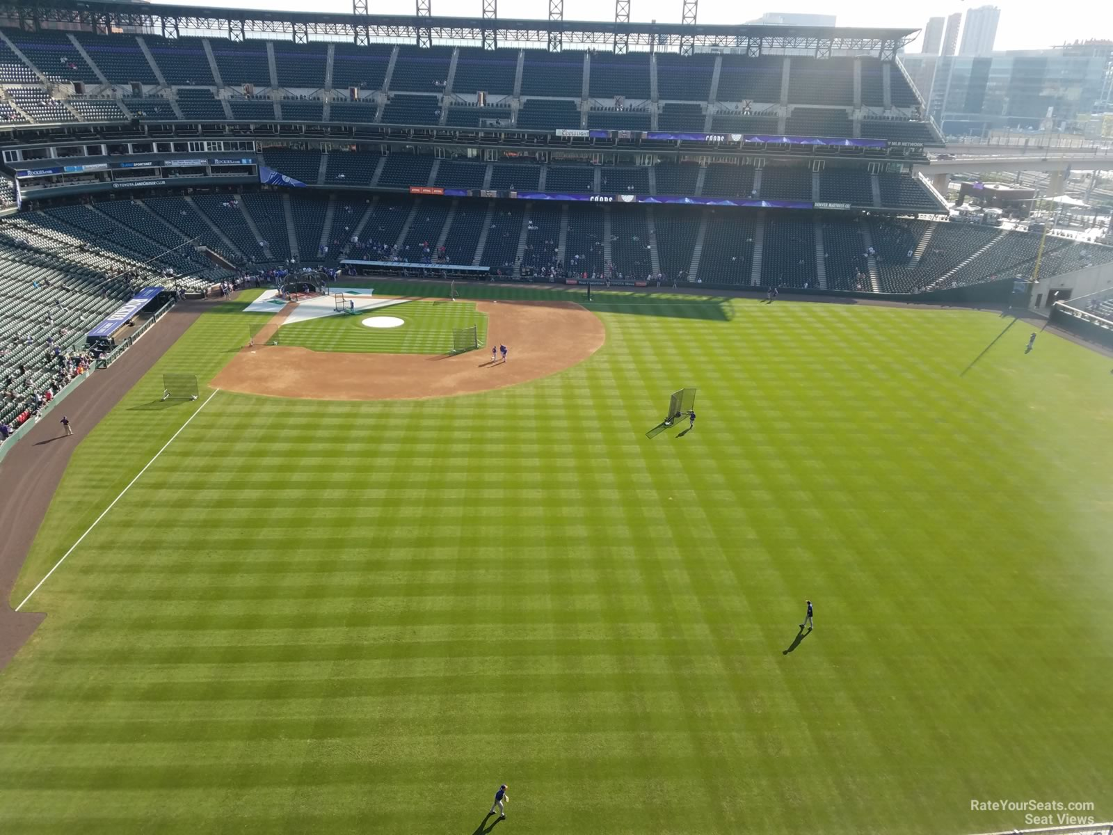 Section Rooftop seat view